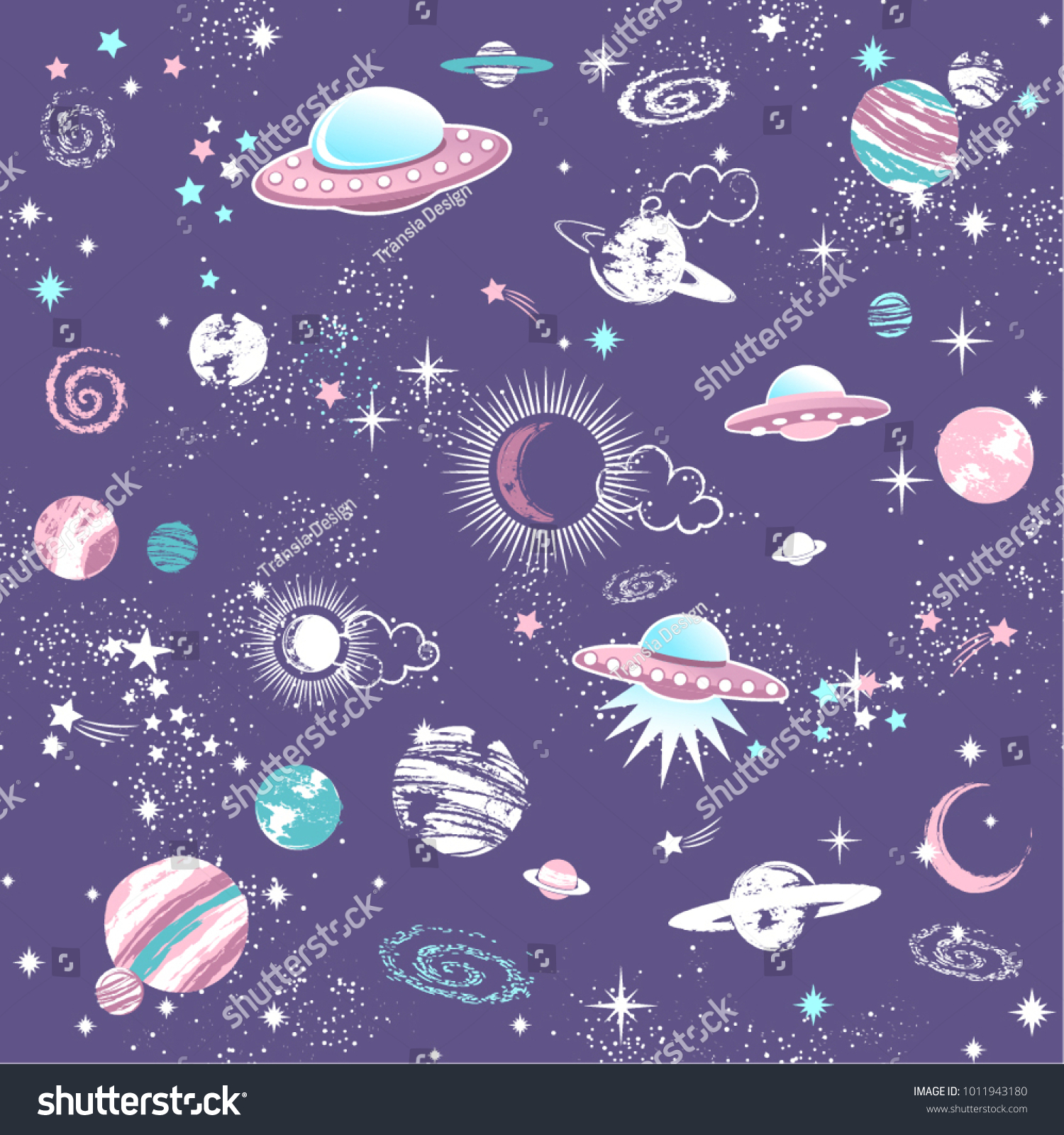 Space Galaxy Constellation Seamless Pattern Print Could Be Used For Textile Zodiac Star Yoga Mat