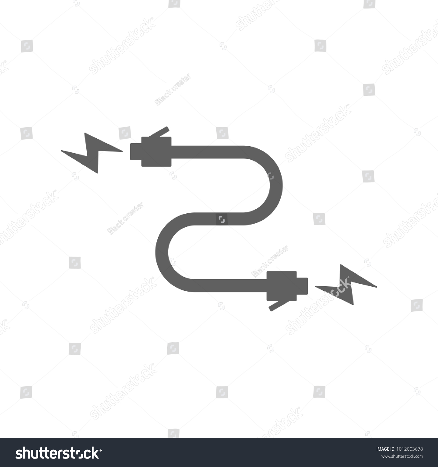 Cable Wire Icon Trendy Flat Style Stock Vector 1012003678 - Shutterstock