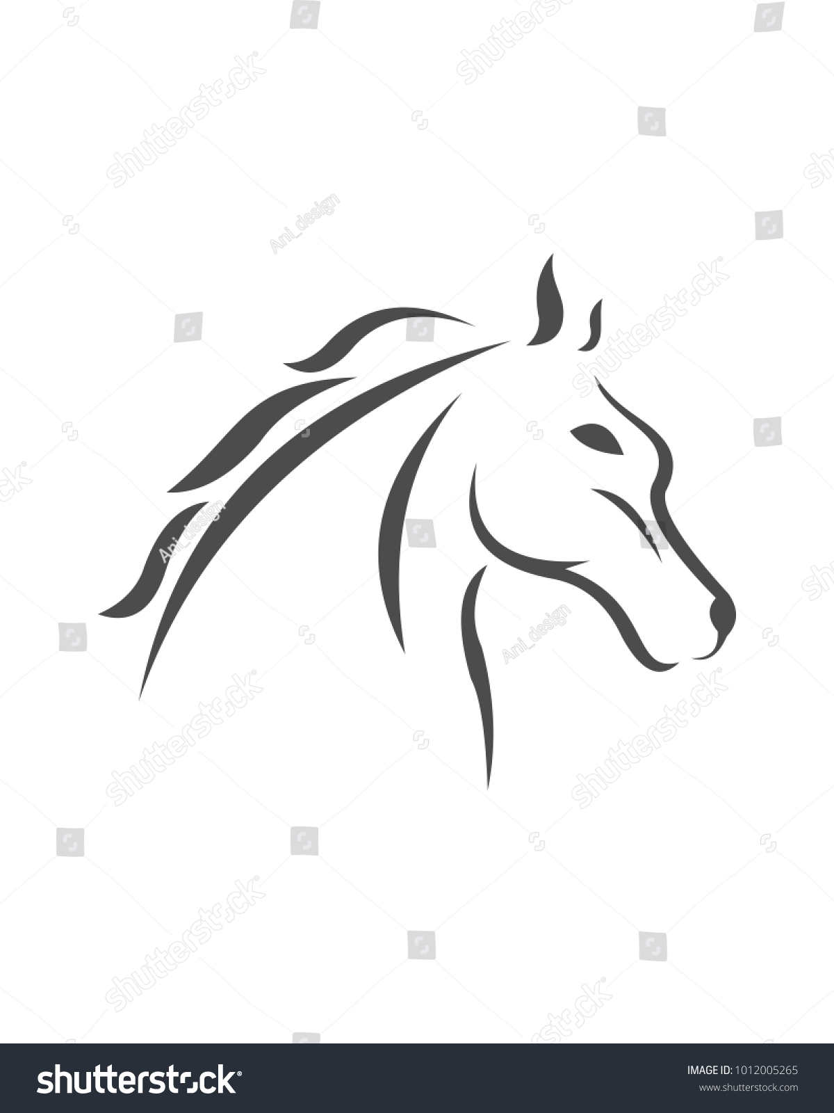 Horse Logo Template Vector Illustration Ez Canvas