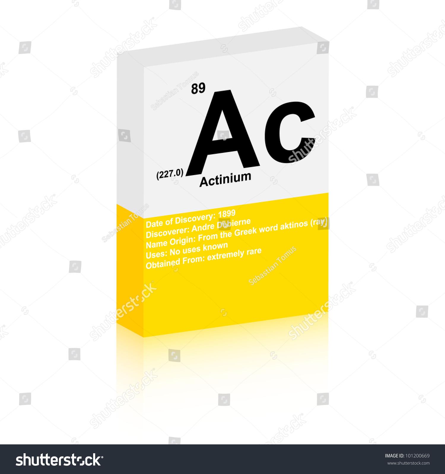 Actinium Symbol Stock Vector 101200669 Shutterstock