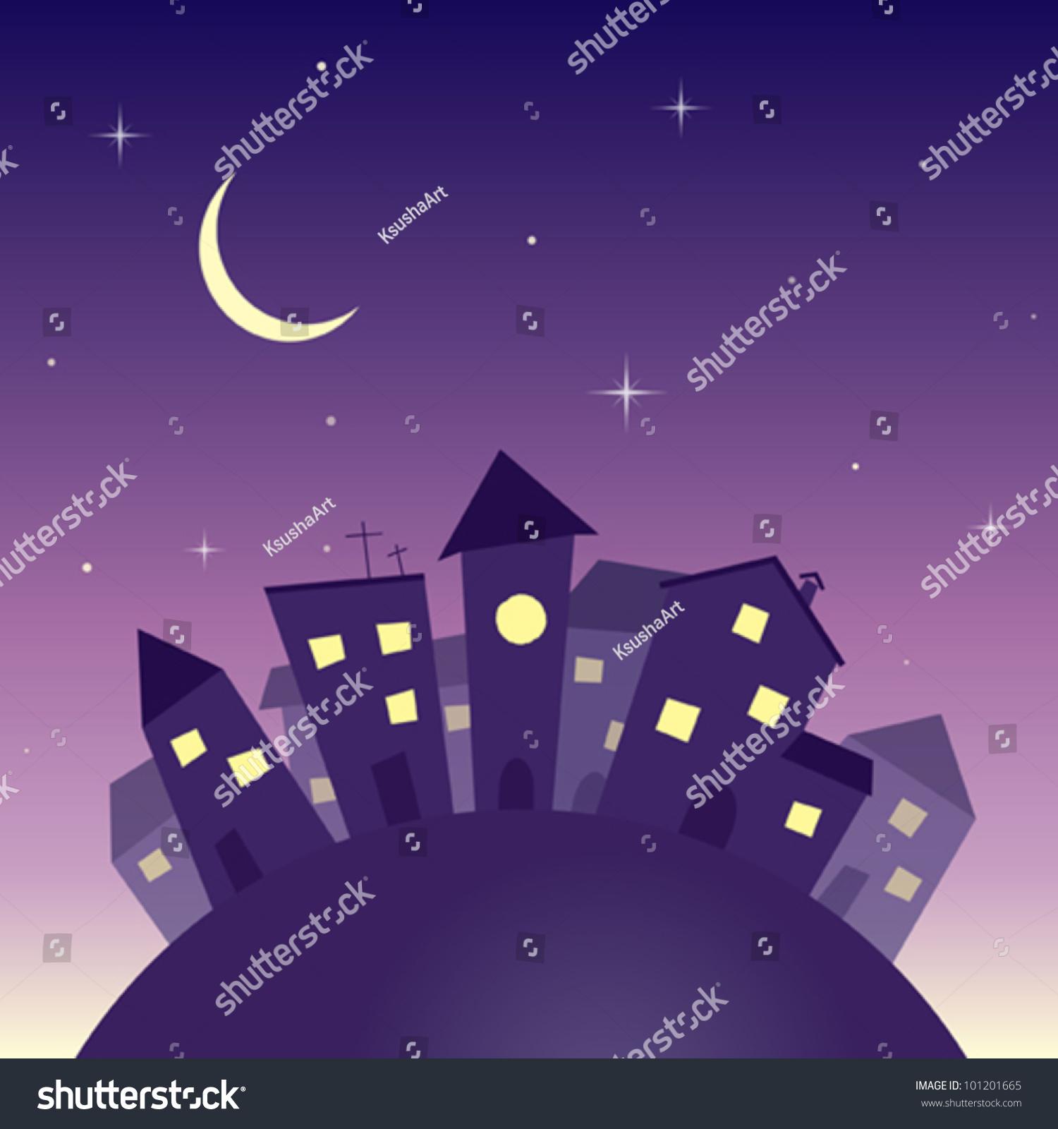 cartoon night vector wallpaper - photo #26
