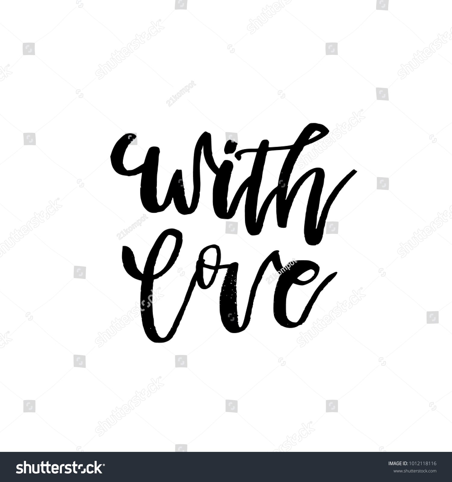 Love happy valentines day card calligraphy stock vector 1012118116 with love happy valentines day card with calligraphy text on white template for greetings kristyandbryce Image collections