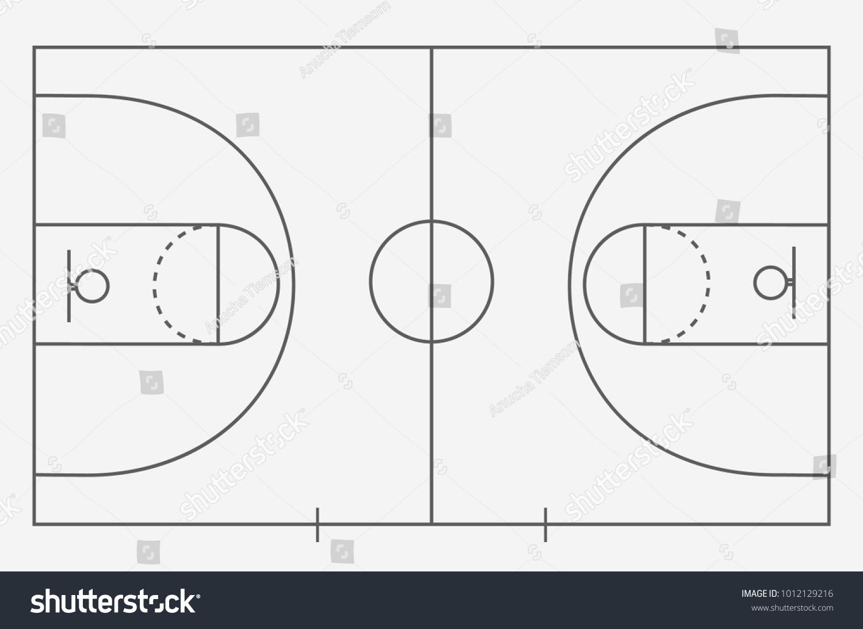 Sol Terrain De Basket image vectorielle de stock de sol de terrain de basket-ball