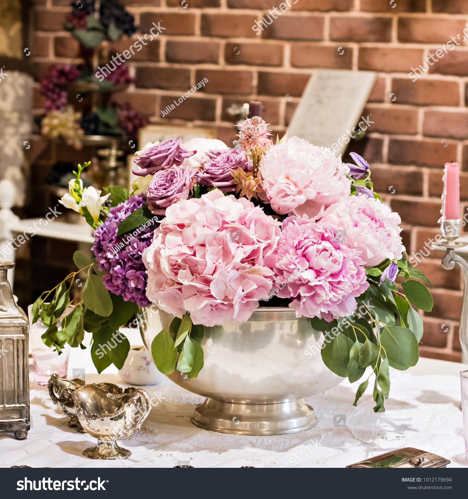 Hydrangeas Beautiful Purple Hydrangea Flowers Closeup Nature Stock Image 1012179694