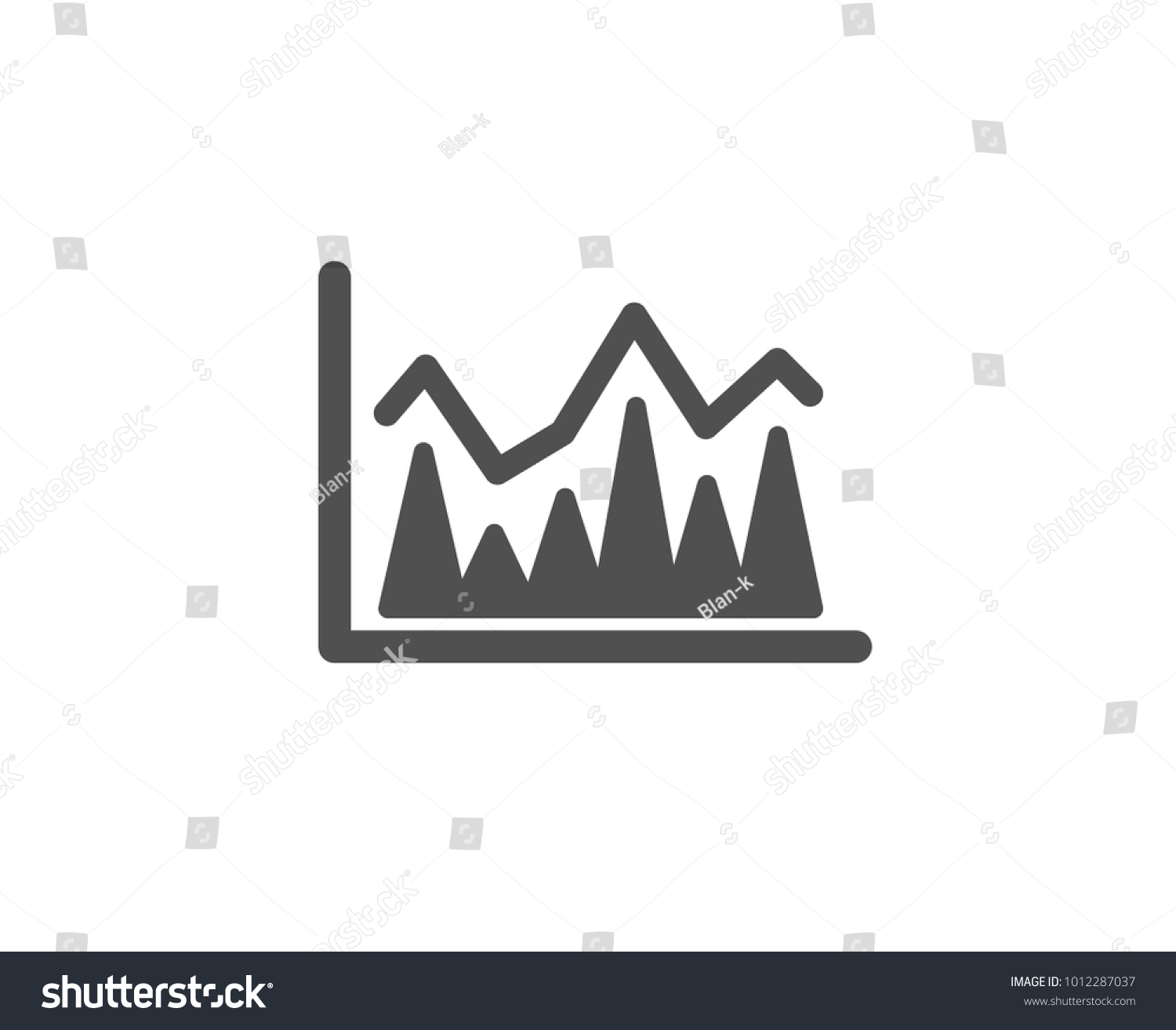 Line Chart Icon Financial Growth Graph Stock Vector 1012287037