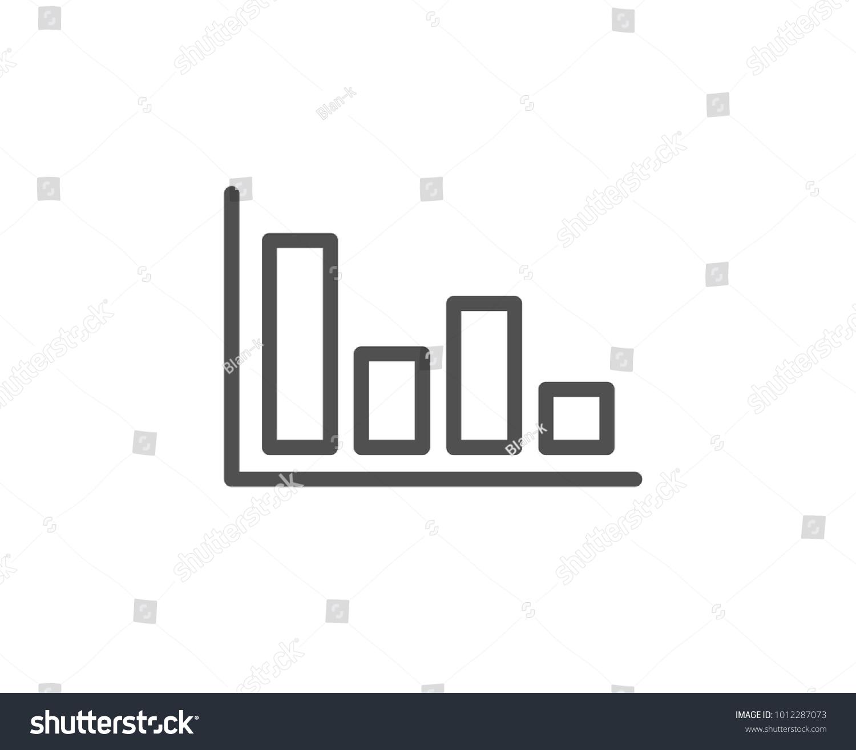 Histogram Column Chart Line Icon Financial Stock Vector Royalty