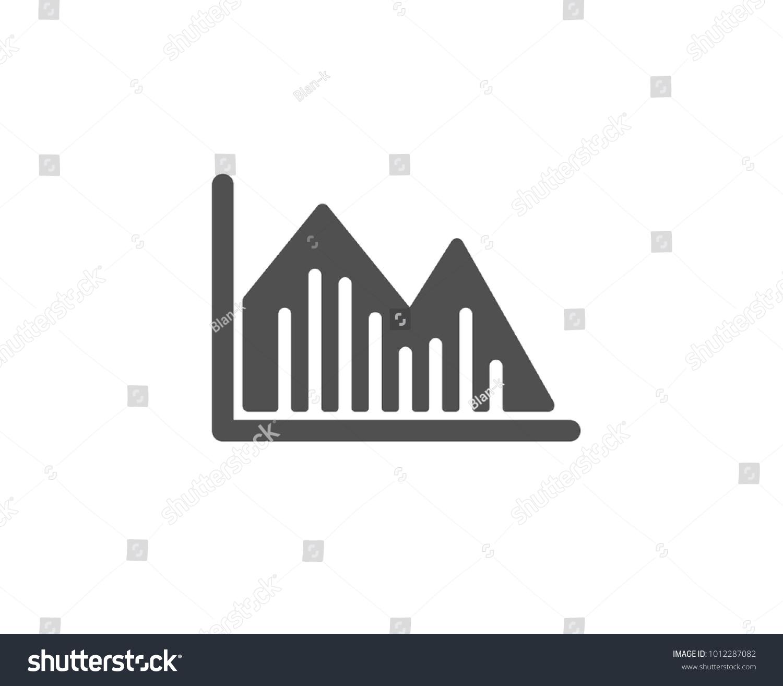 Financial Chart Simple Icon Economic Graph Stock Vector 1012287082