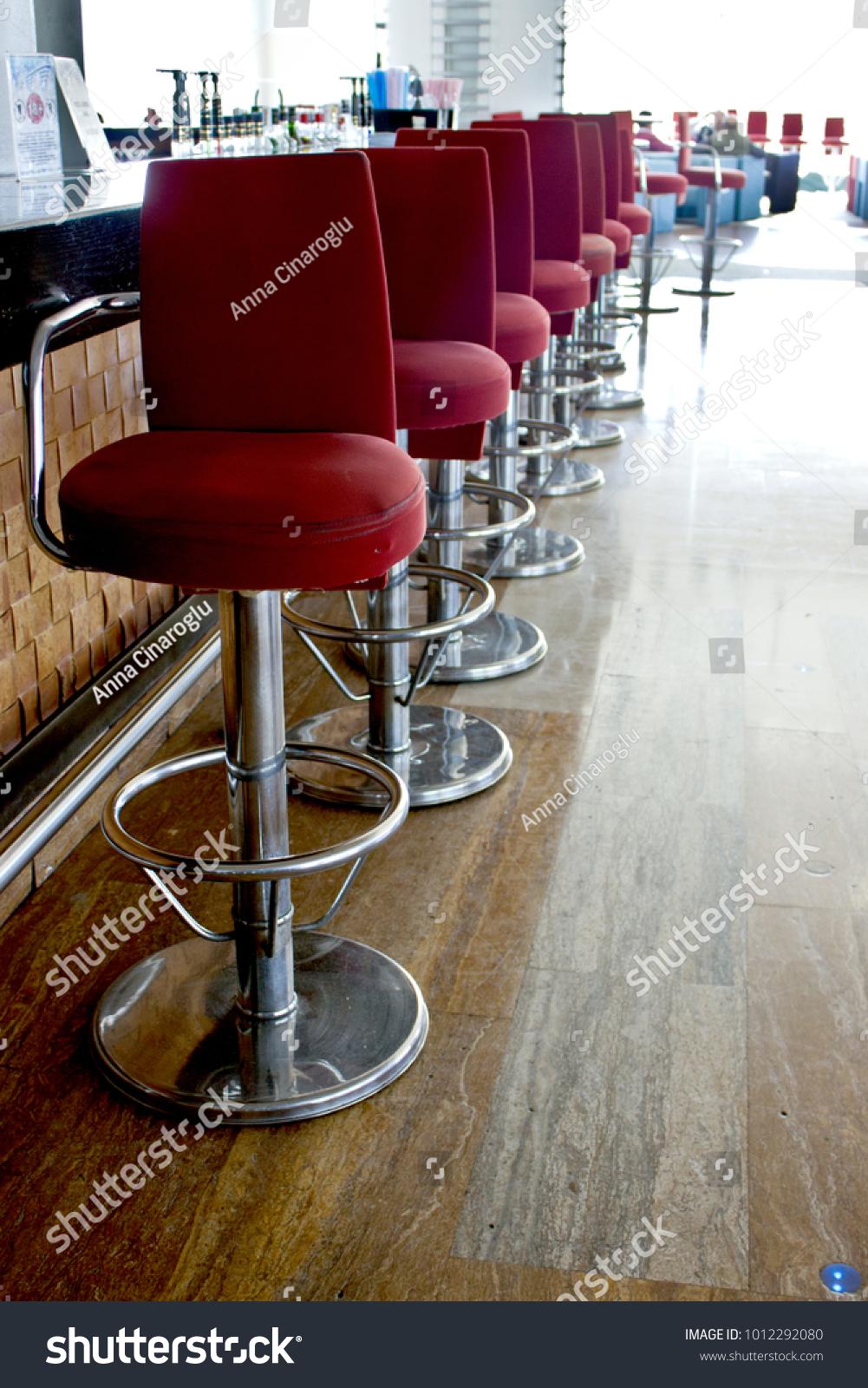 Bar Long Counter High Bar Red Stock Photo (Edit Now) 10