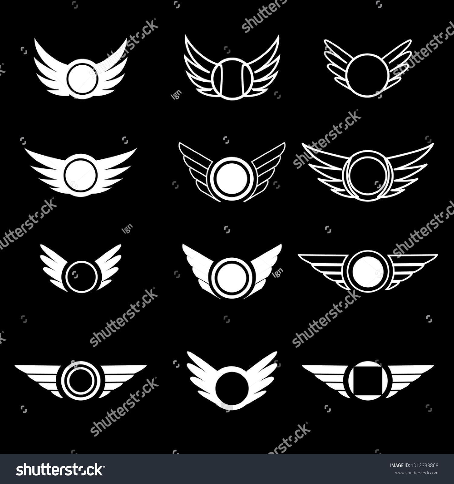 wings vector logo set luxury monograms stock vector royalty free