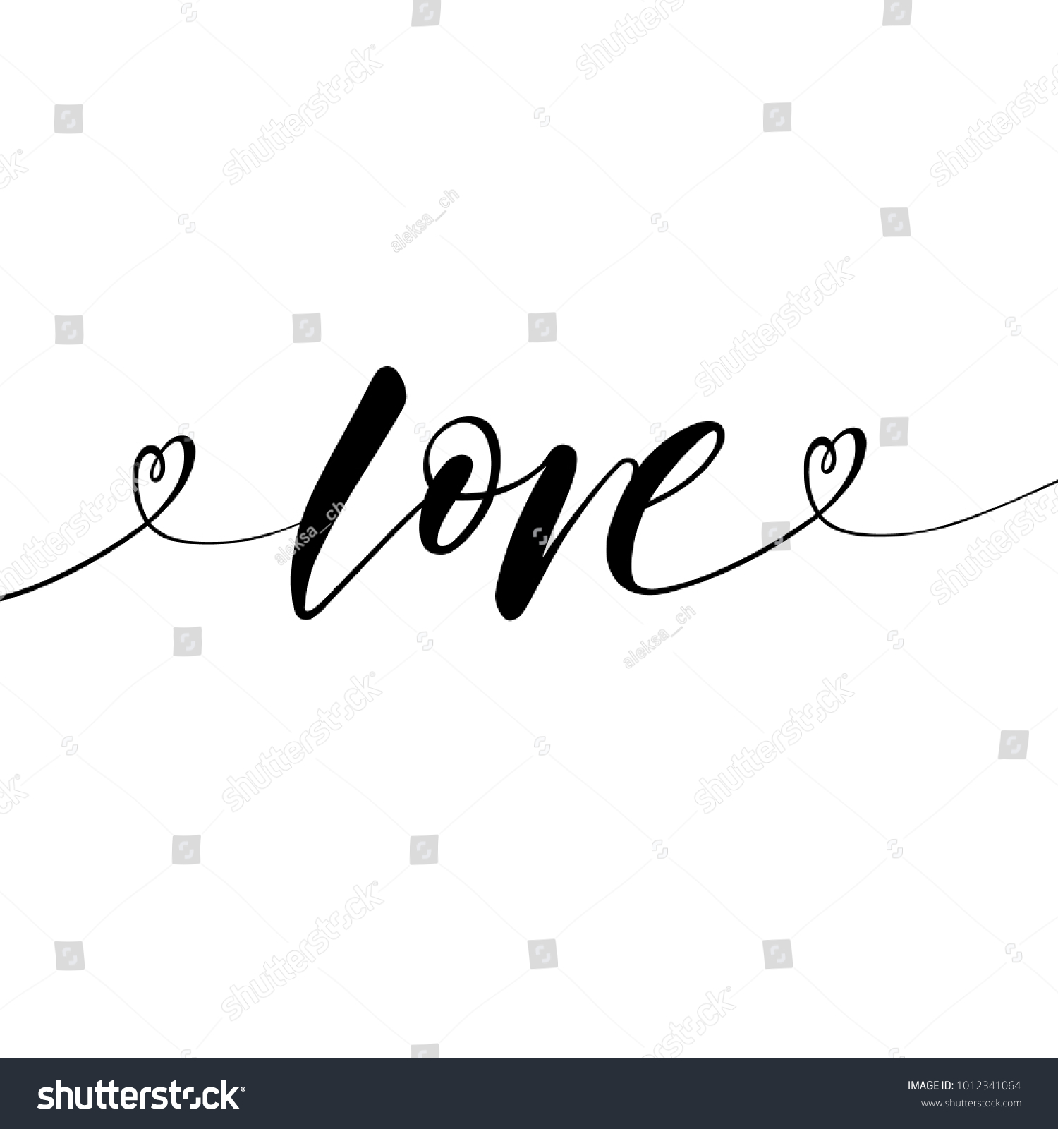 Love Greeting Card Template Word Love Stock Vector Royalty Free