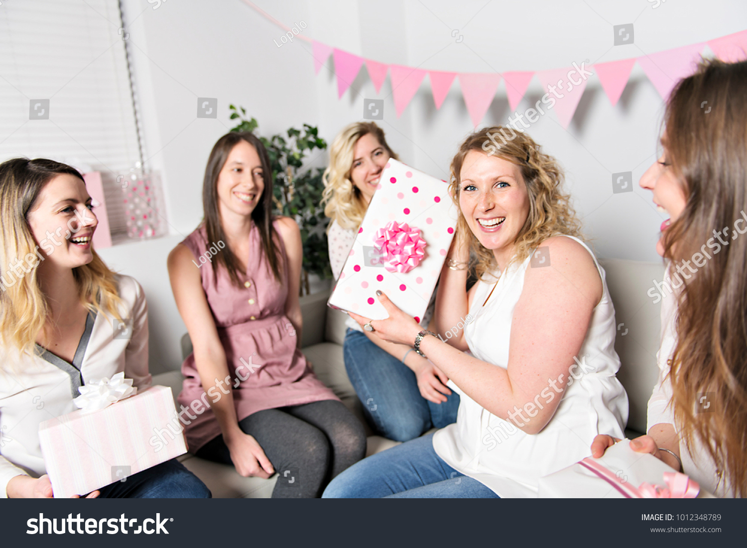 Some Best Friends On Baby Shower Stock Photo Edit Now 1012348789
