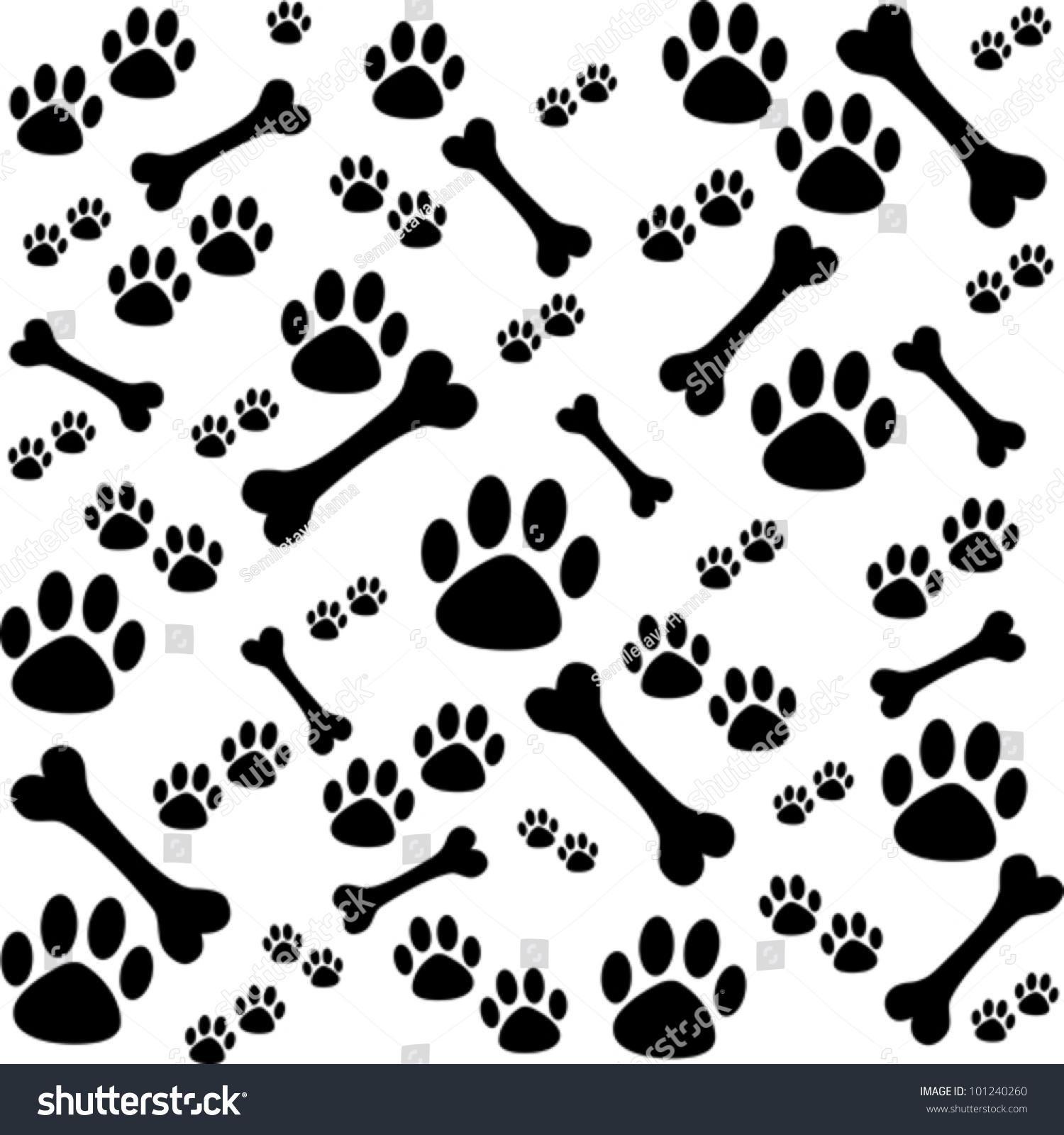 paw print bones wallpaper - photo #14