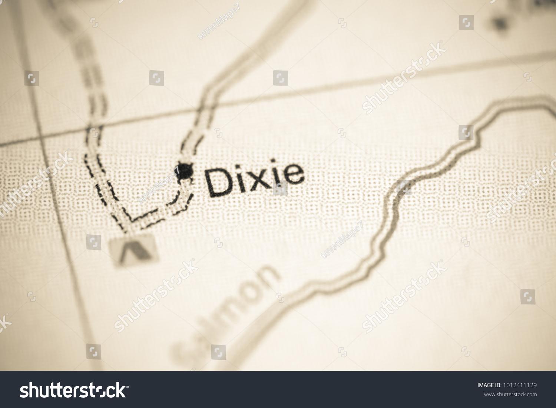 Dixie Idaho USA On Map Stock Photo (Edit Now) 1012411129