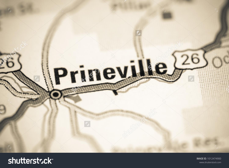Prineville Oregon Usa On Map Stock Photo Edit Now 1012474900