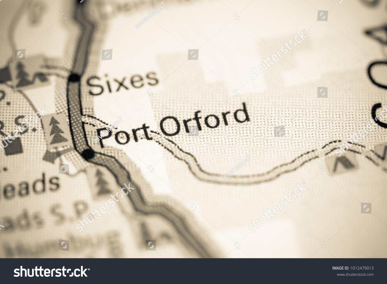 port orford oregon map Port Orford Oregon Usa On Map Stock Photo Edit Now 1012479013 port orford oregon map