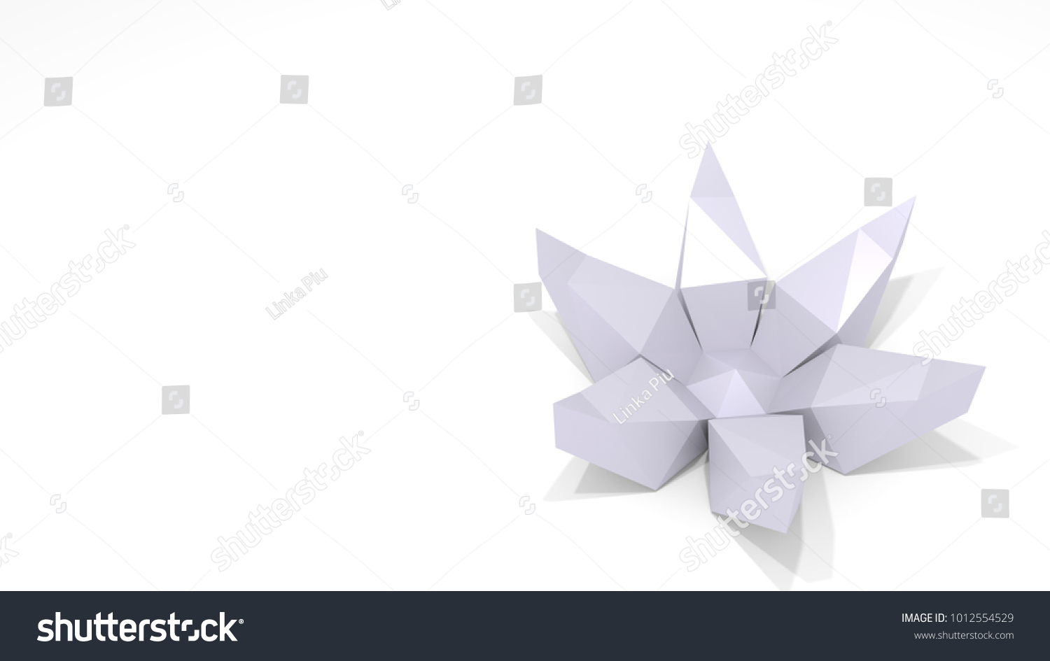 Royalty Free Stock Illustration Of Low Poly 3 D Model Paper Flower