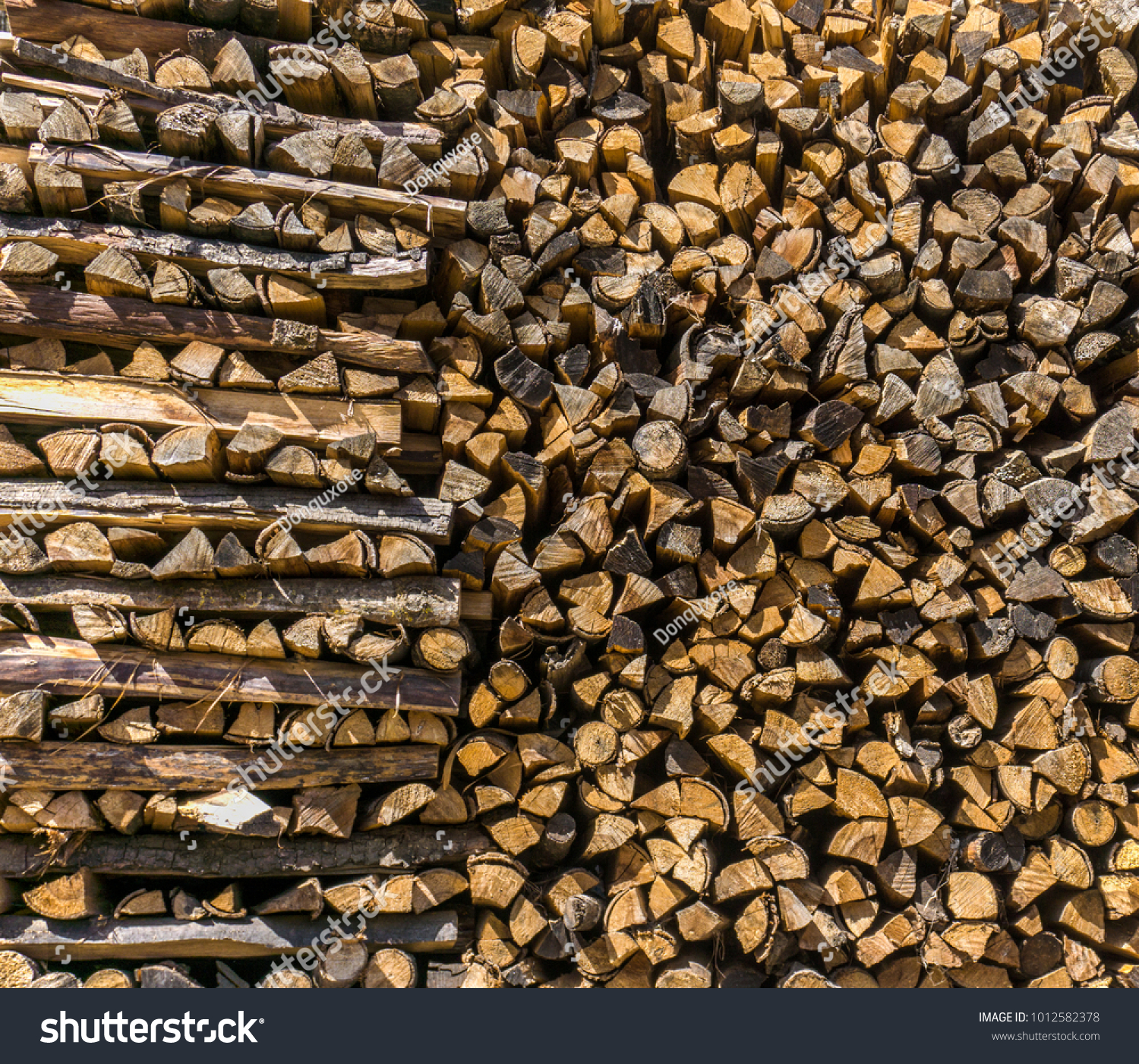 Pile Chopped Wood Fireplace Stack Firewood Stock Photo Edit Now