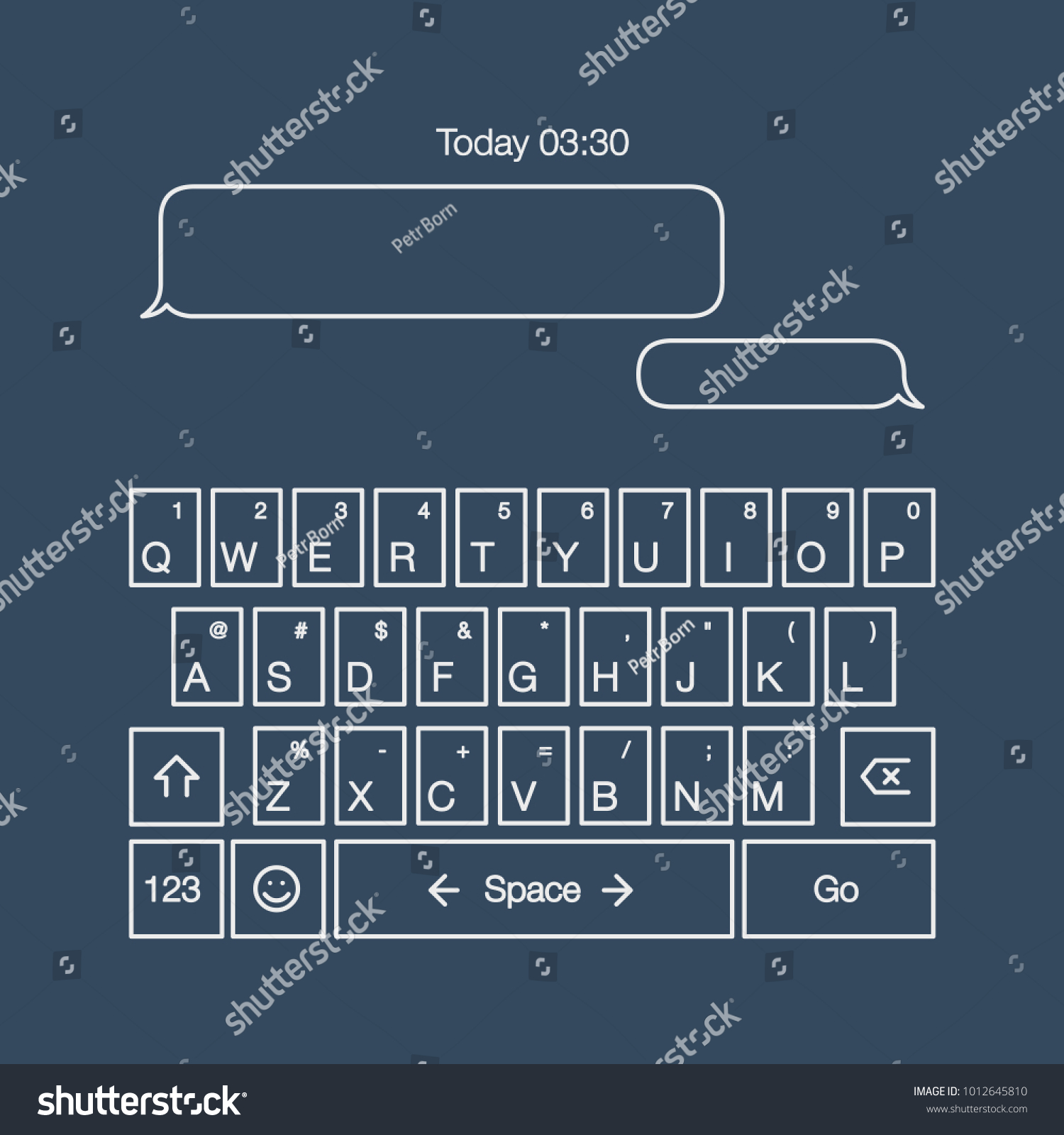 Mobile Keyboard Sms Mms Message Buttons Stock Vector Royalty Free