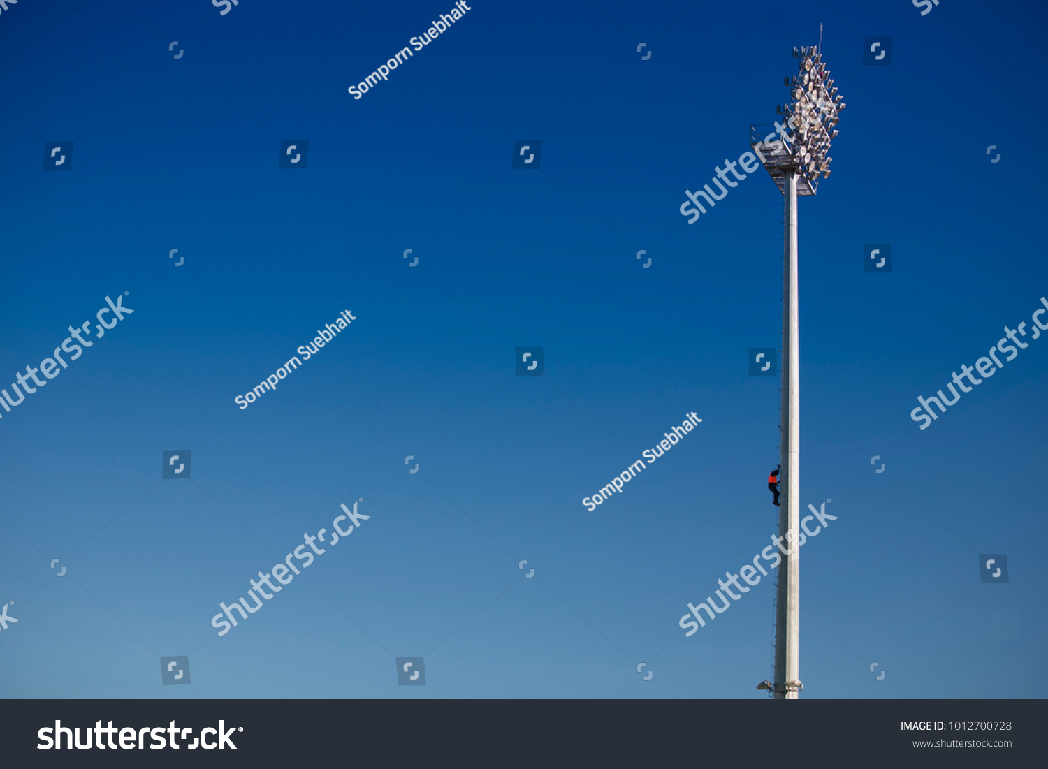 Rope Access Inspector Electrician Job Wearing Stock Photo (Edit Now