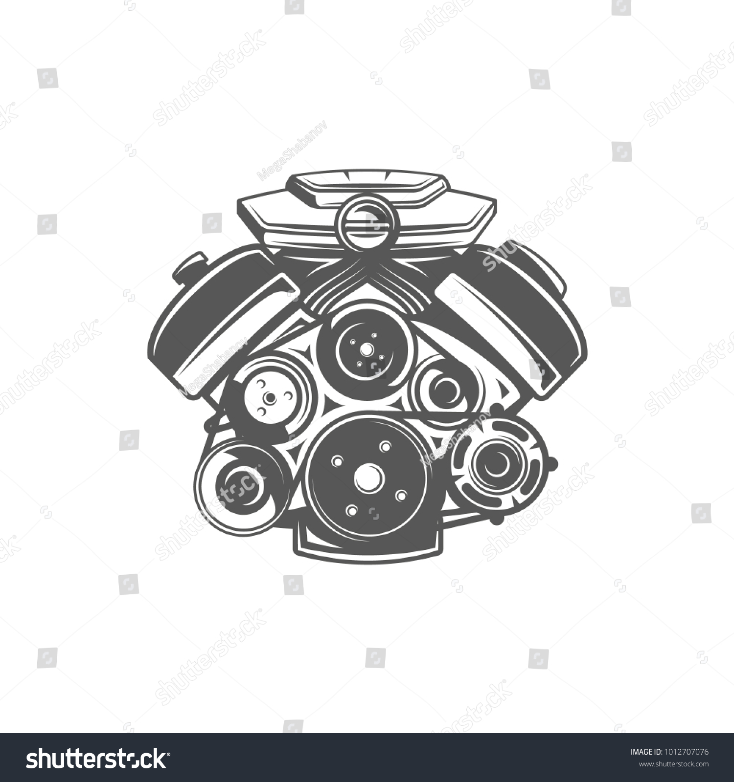 Element car service engine isolated on stock vector 1012707076 element of the car service engine isolated on white background symbol for car service biocorpaavc Choice Image