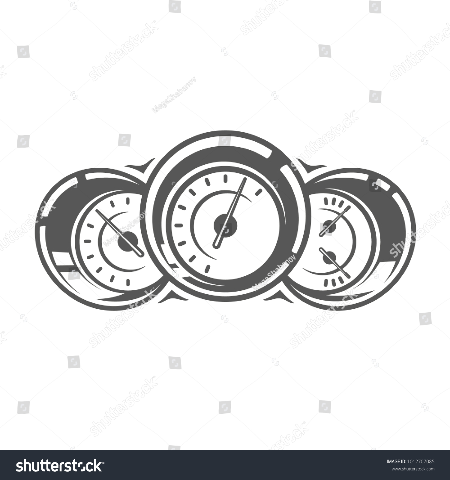 Element car service speedometer isolated on stock vector element of the car service speedometer isolated on white background symbol for car service biocorpaavc Choice Image