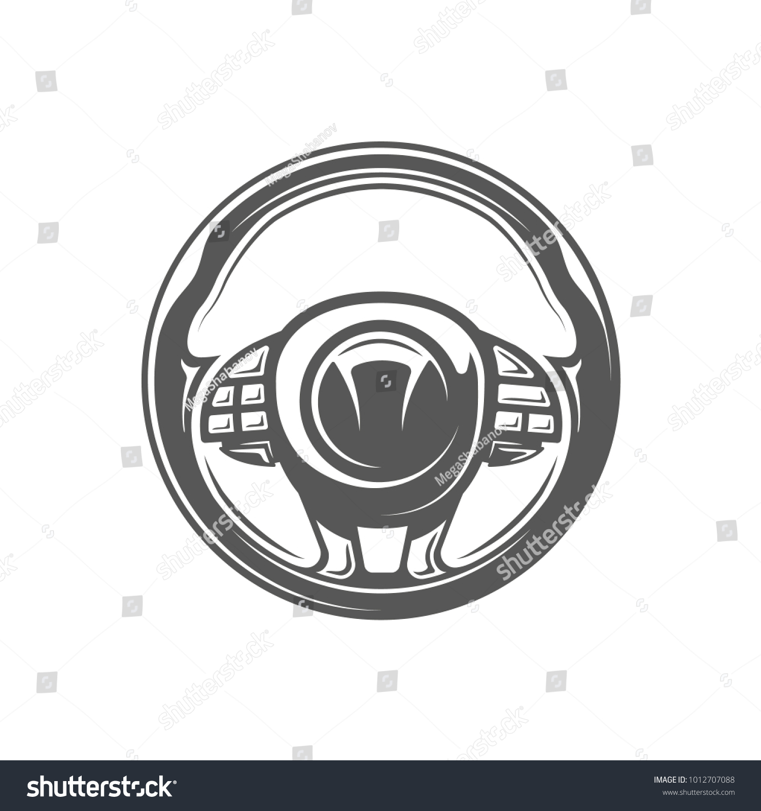 Element car service steering wheel isolated stock vector element of the car service steering wheel isolated on white background symbol for car biocorpaavc Choice Image