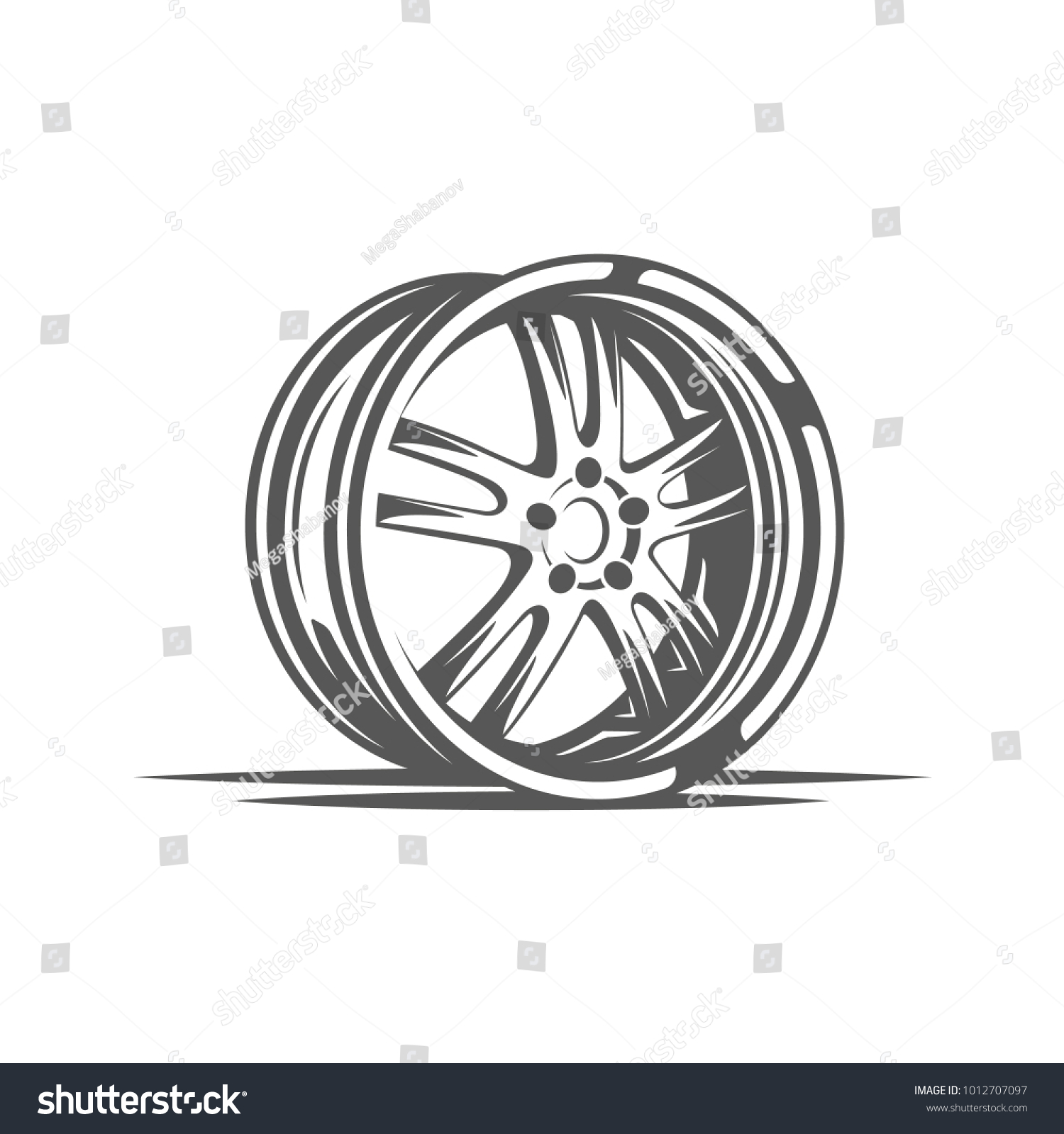 Element car service wheel isolated on stock vector 1012707097 element of the car service wheel isolated on white background symbol for car service biocorpaavc Choice Image
