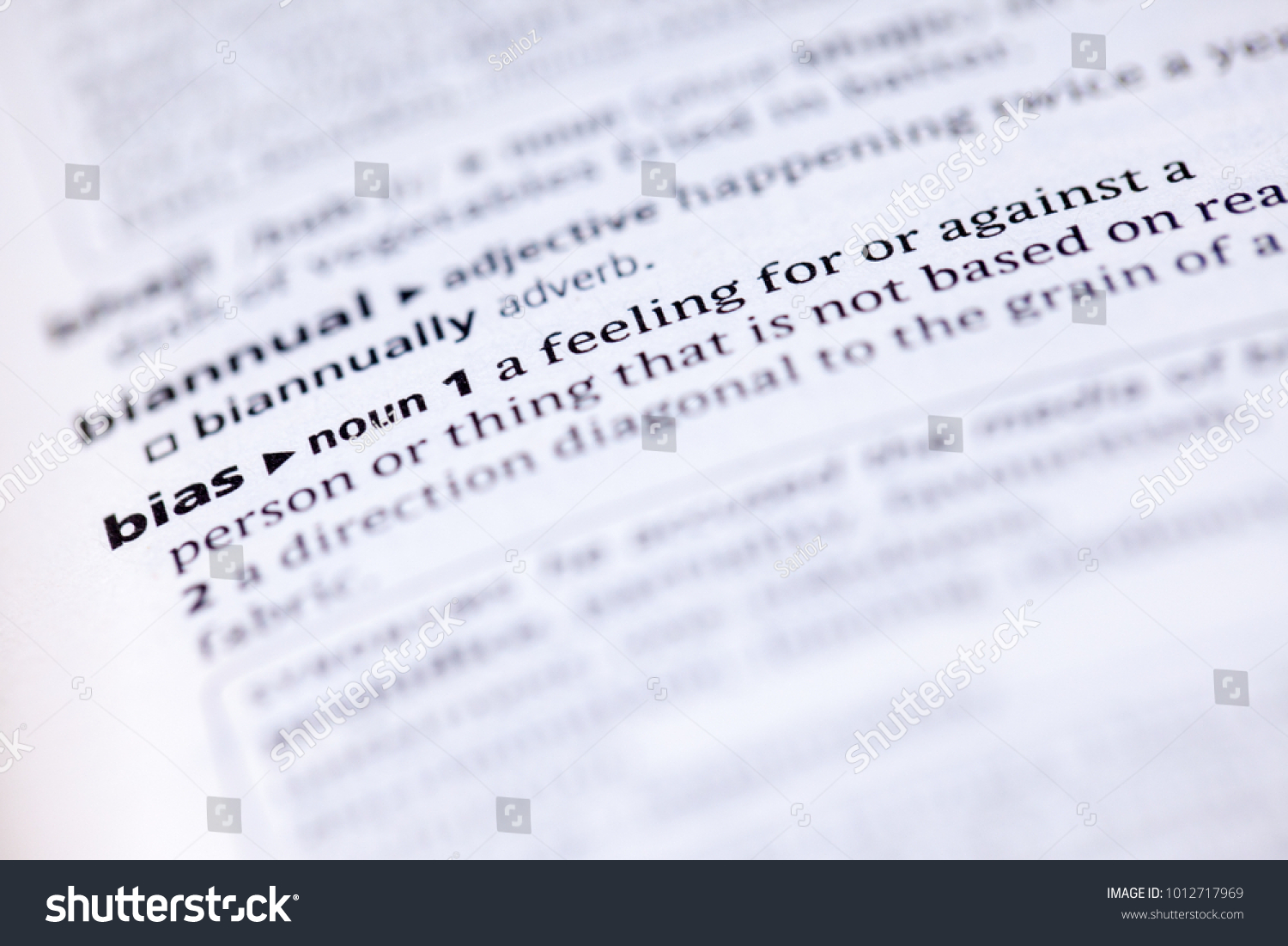 close dictionary definition bias stock photo (edit now) 1012717969
