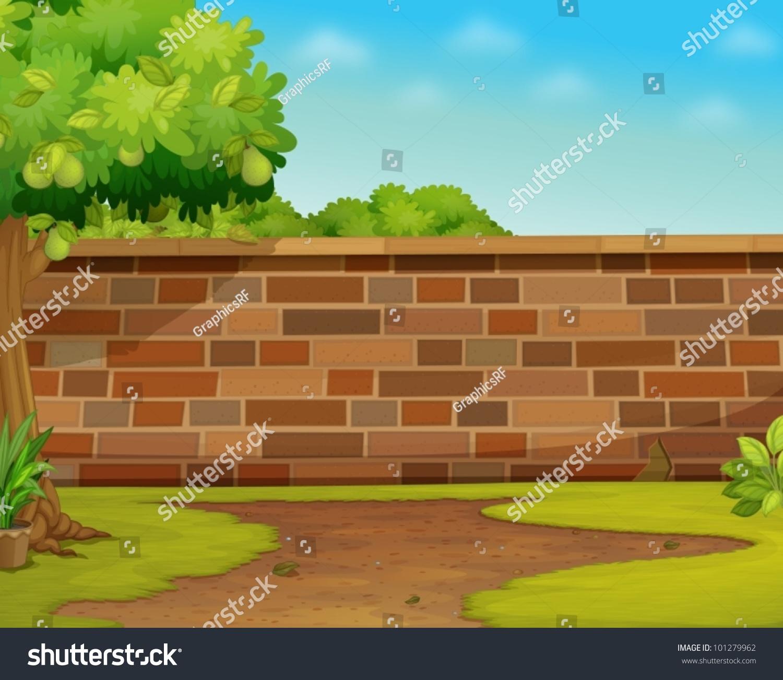 Garden wall clipart