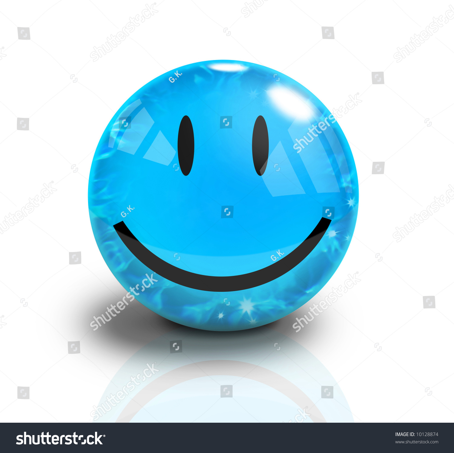 Smiley Water Drop. Vector Icon Royalty Free Stock Image - Image ...