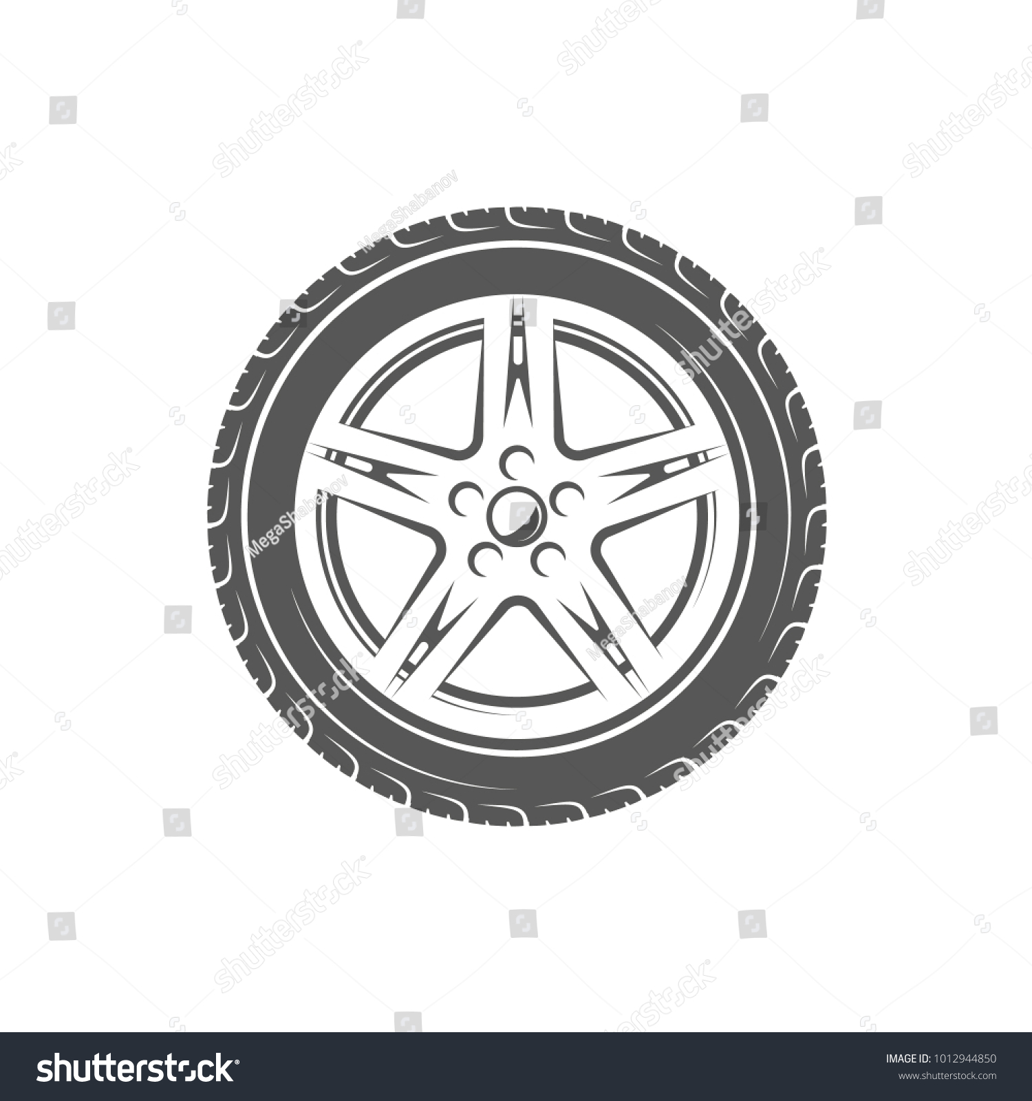Element car service wheel isolated on stock vector 1012944850 element of the car service wheel isolated on white background symbol for car service biocorpaavc Choice Image