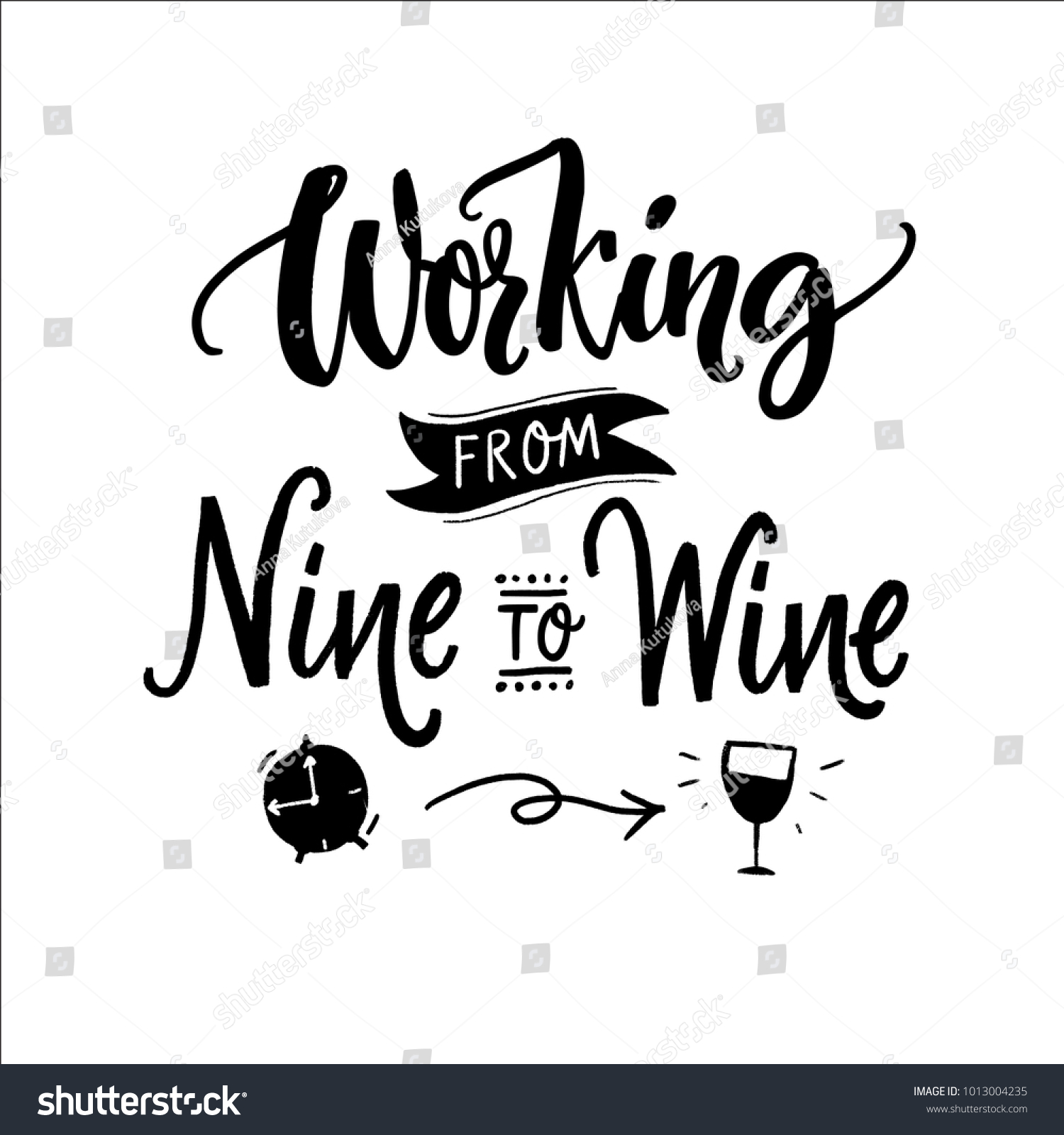 Inspirational quote Funny Poster Picture Art Rise and Wine
