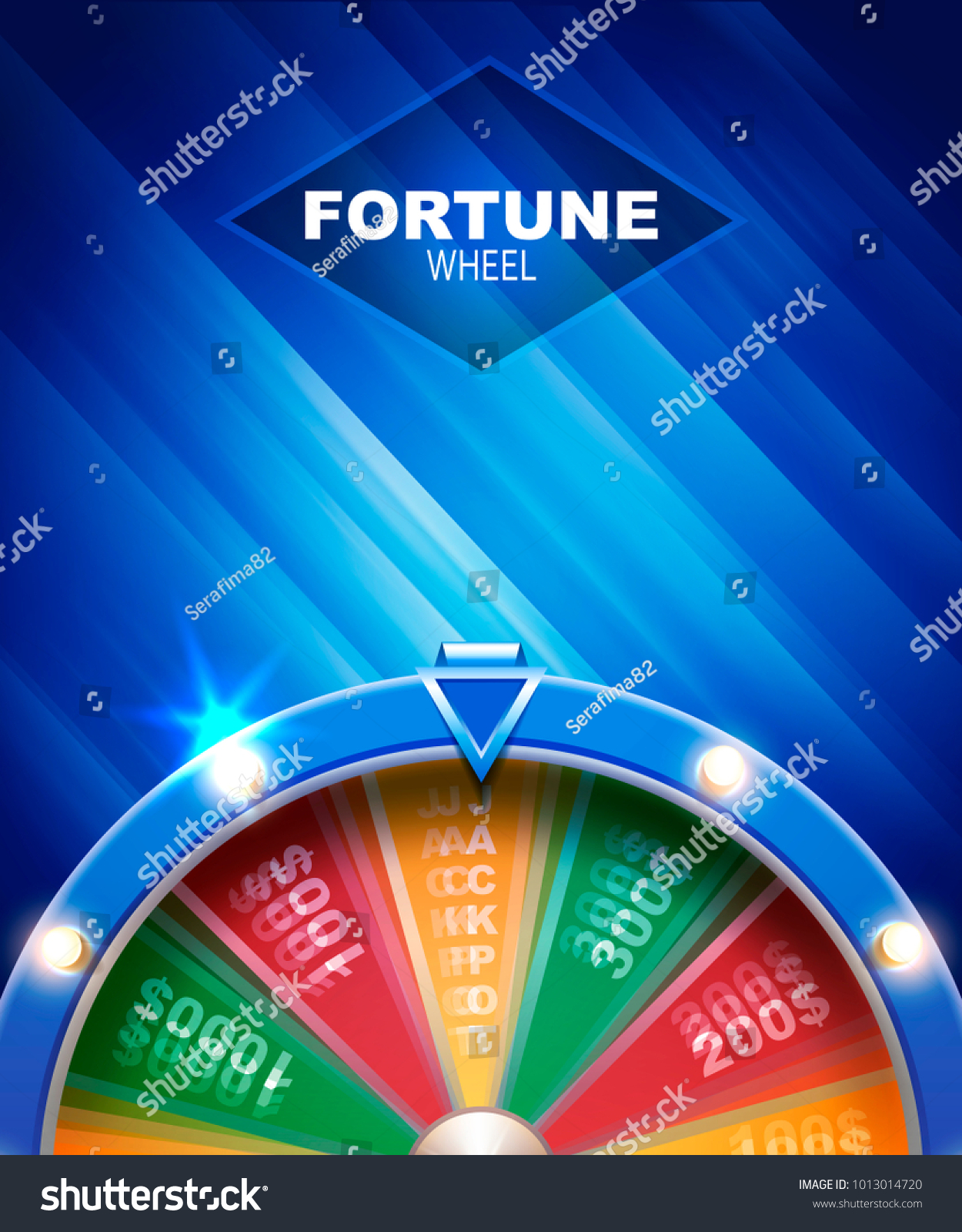 Wheel Fortune Gambling Background Stock Vector Royalty Free 1013014720