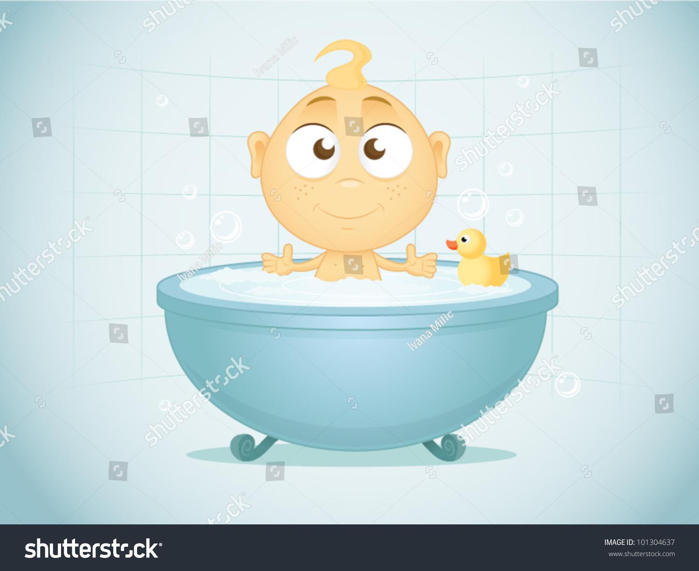 Bath Time Stock Vector 101304637 Shutterstock