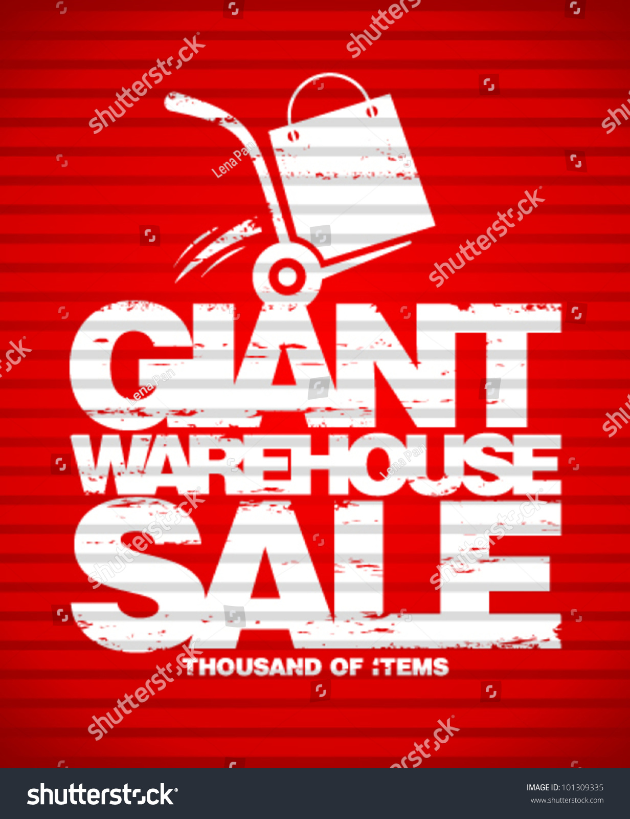 giant warehouse design template hand stock vector  giant warehouse design template hand truck