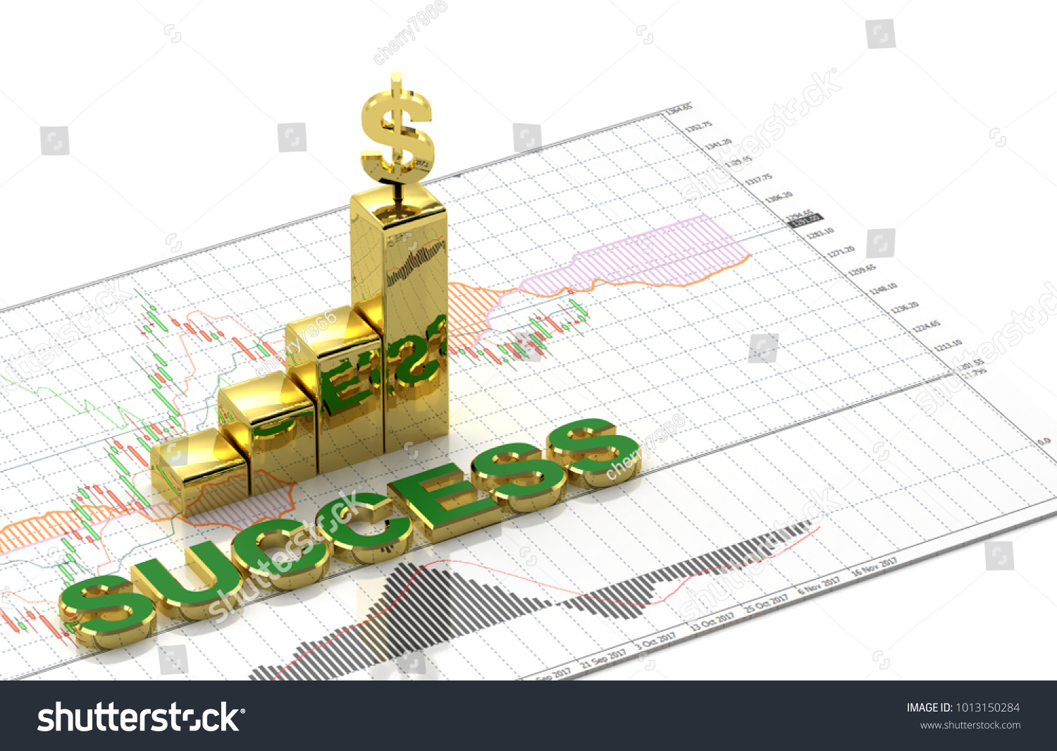 Gold dollar symbol text success on stock illustration 1013150284 gold and dollar symbol and text success on top candlestick graph stock market gold stock exchange biocorpaavc Images