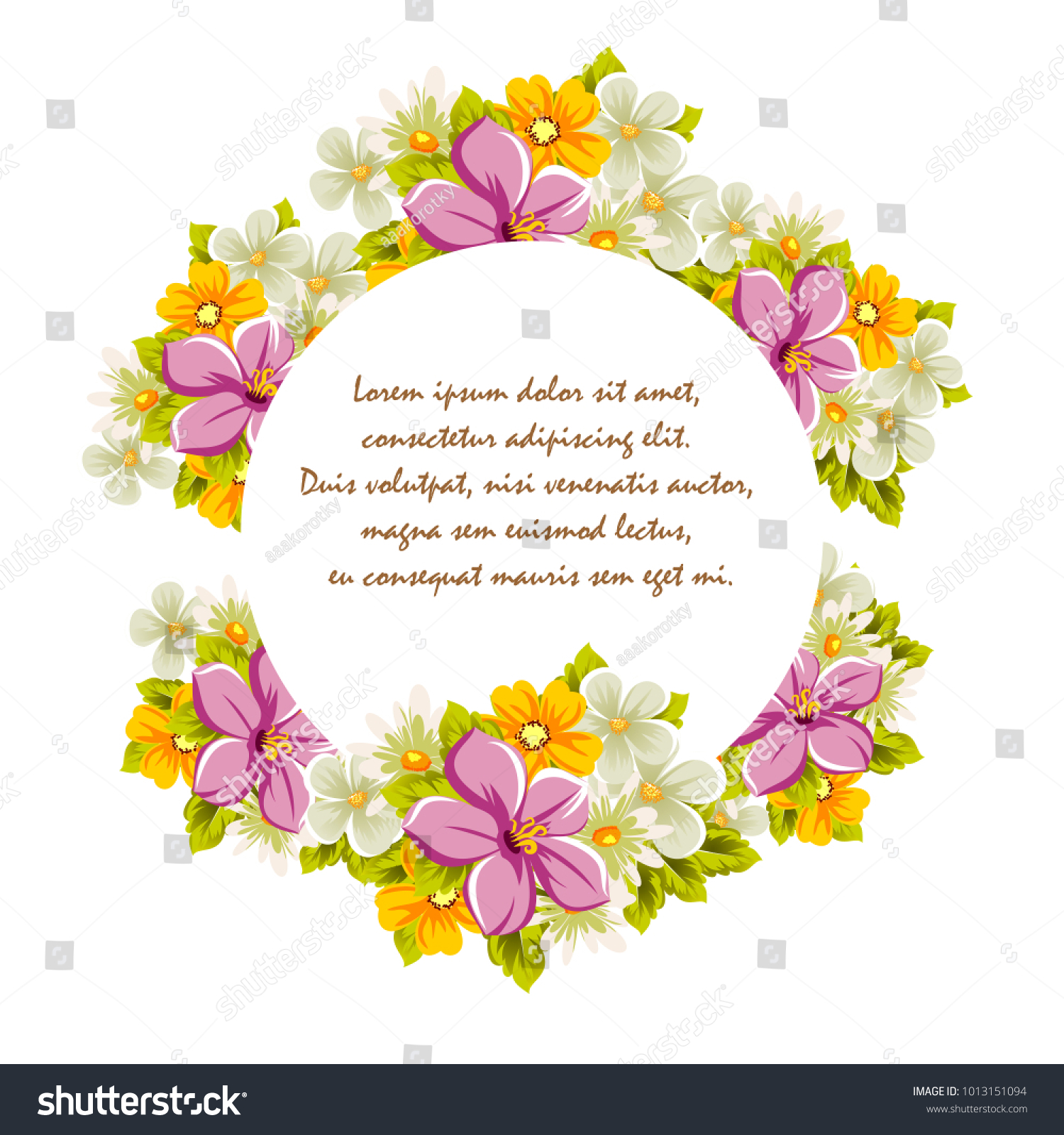 Beautiful frames for your text from the flowers for design id 1013151094 izmirmasajfo