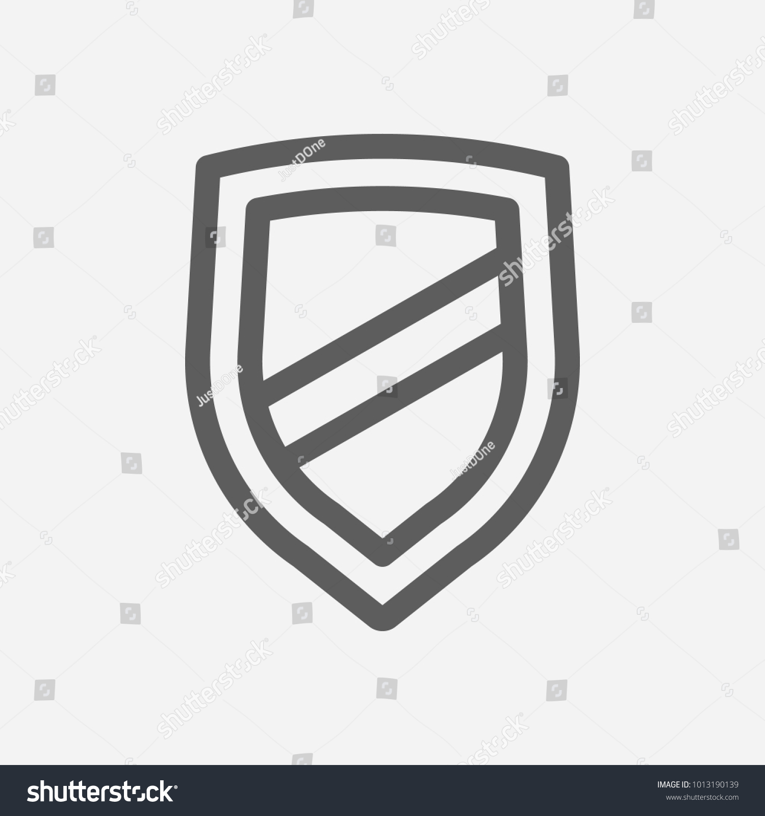 Integrity Value Icon Line Symbol Isolated Stock Vector 1013190139