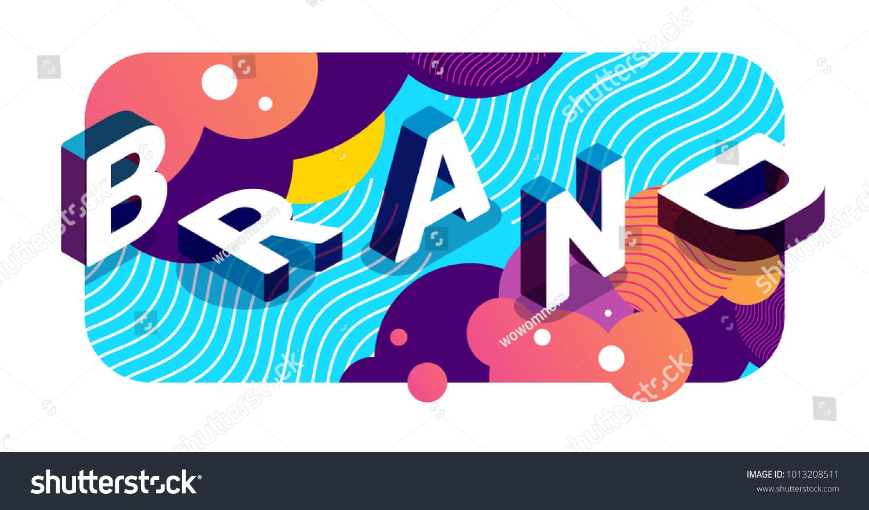 vector creative illustration 3 d word brand のベクター画像素材