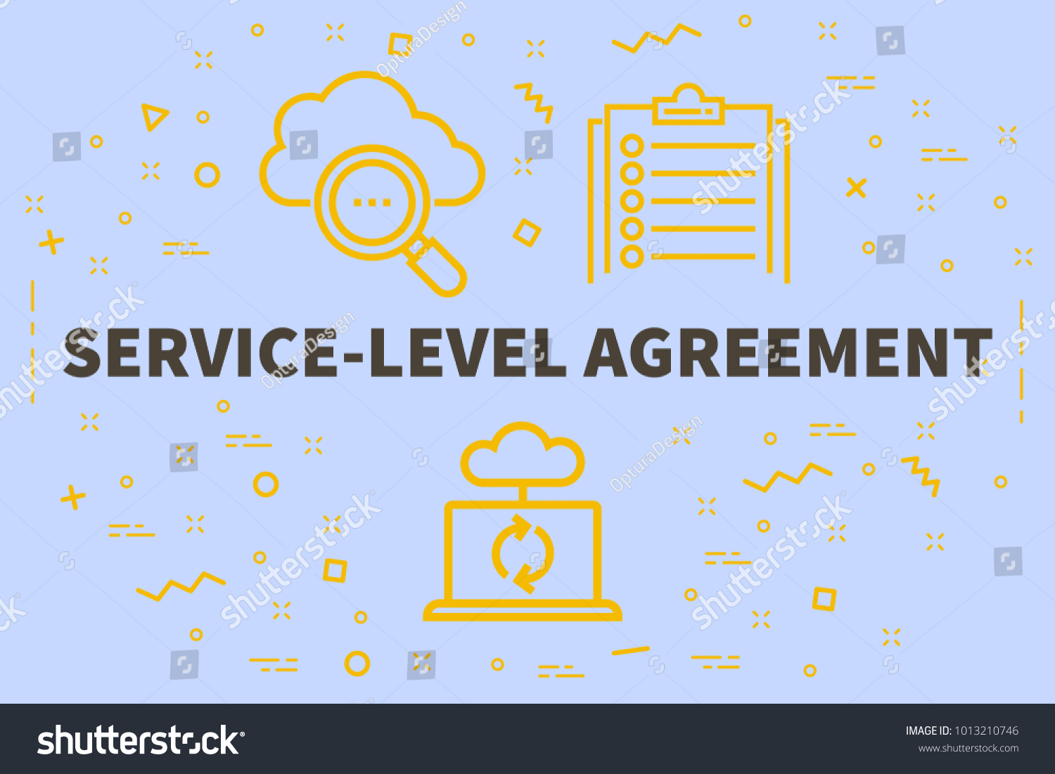 Conceptual Business Illustration Words Servicelevel Agreement Stock ...