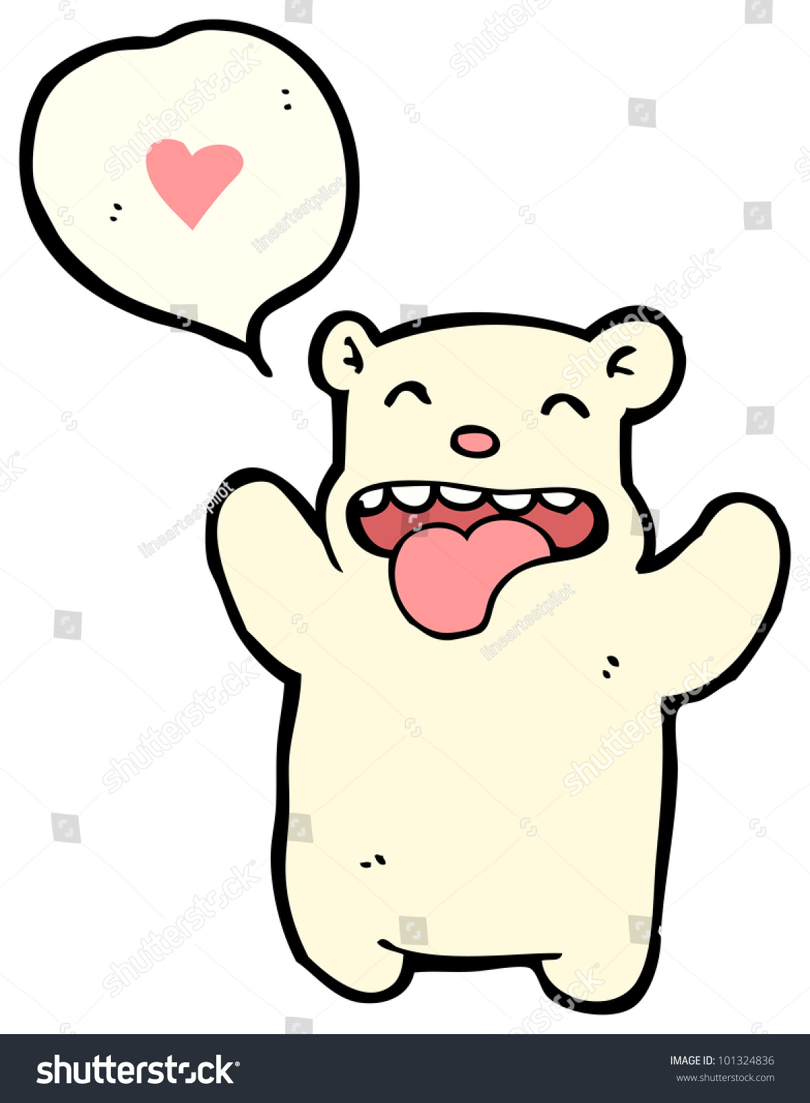 Funny Valentine Bear Cartoon