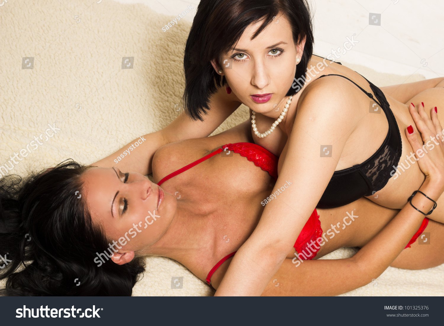 Sexy lesbians playing with each other