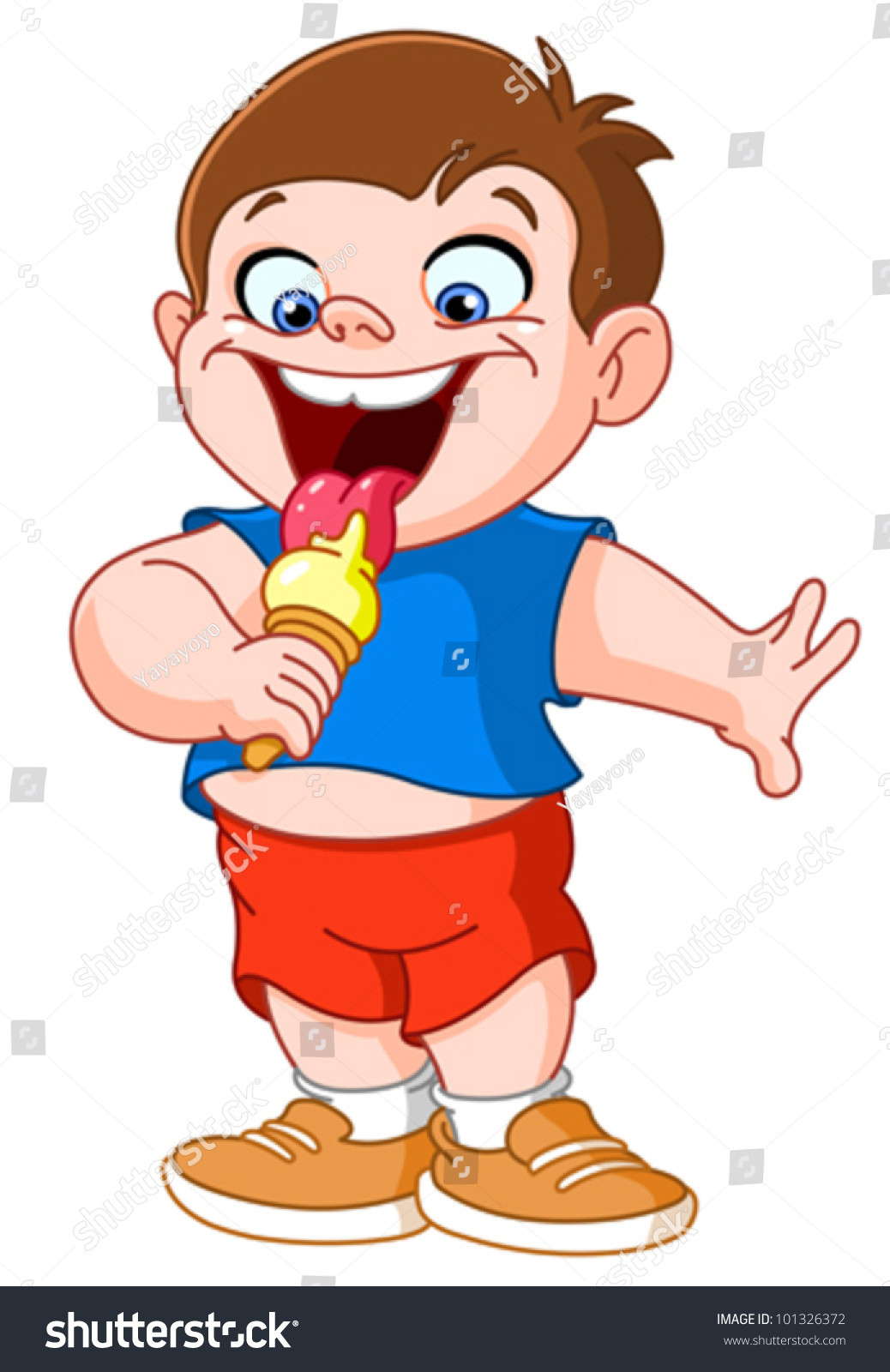 Image result for kid eating ice cream cartoon pics