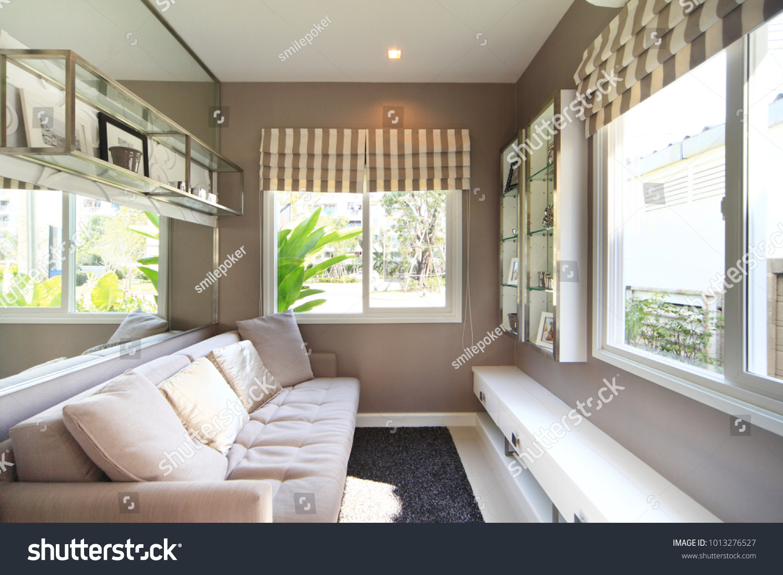 Bangkok thailand 14jan13 modern residence design with furniture and interior design setting before