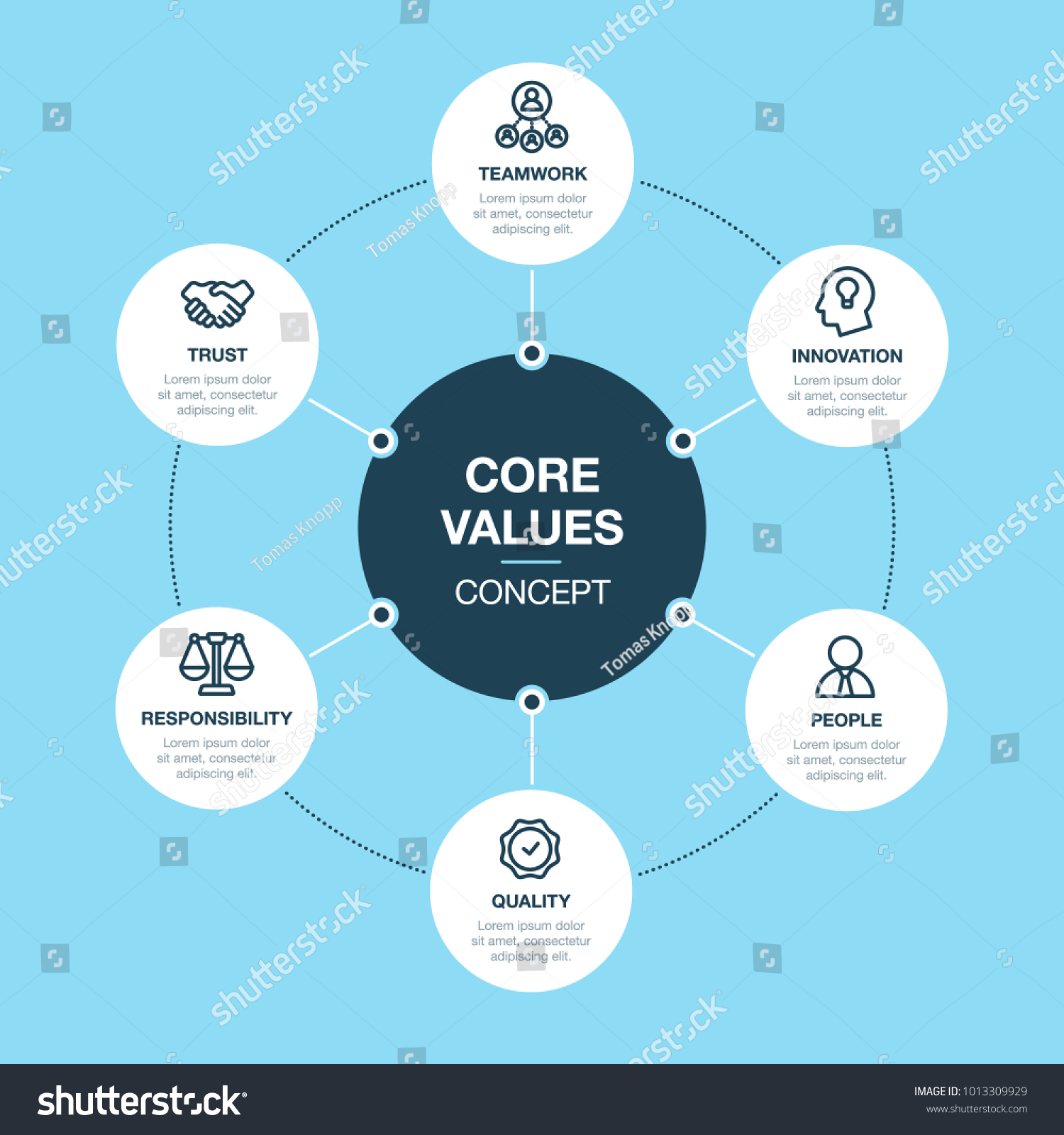 simple vector infographic core values template stock vector hd