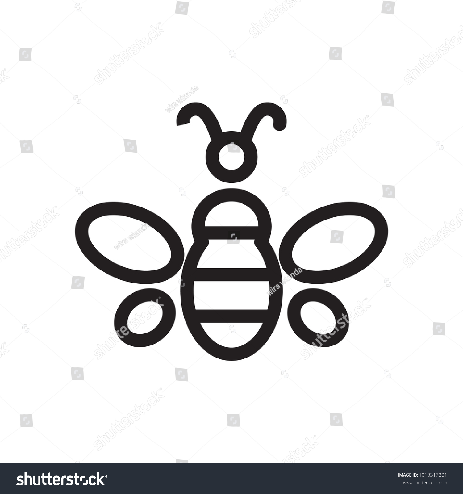 Bee icon symbol premium quality isolated stock vector 1013317201 bee icon symbol premium quality isolated bumblebee element in trendy style biocorpaavc