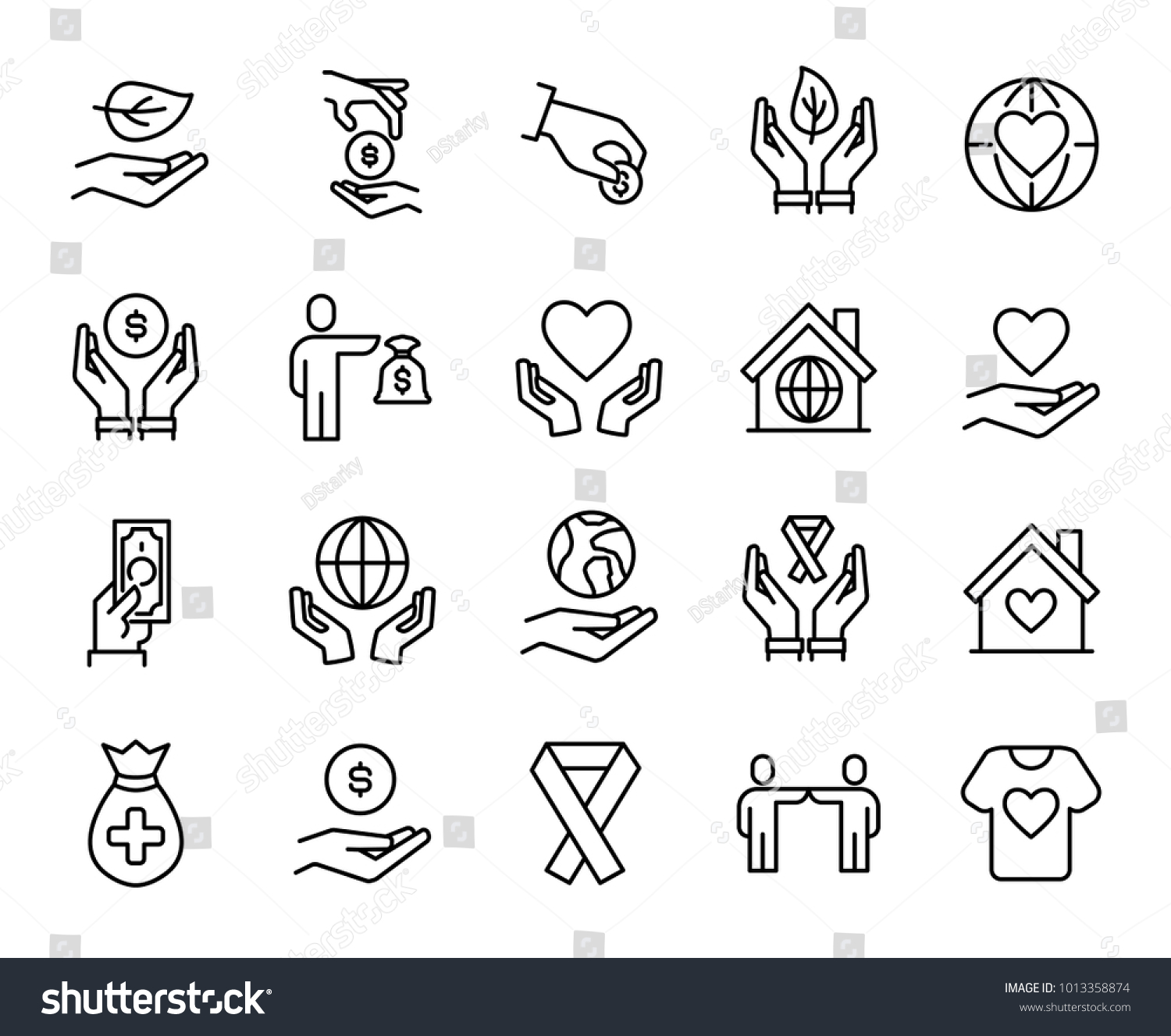 Simple collection volunteering related line icons stock vector simple collection of volunteering related line icons thin line vector set of signs for infographic buycottarizona Gallery