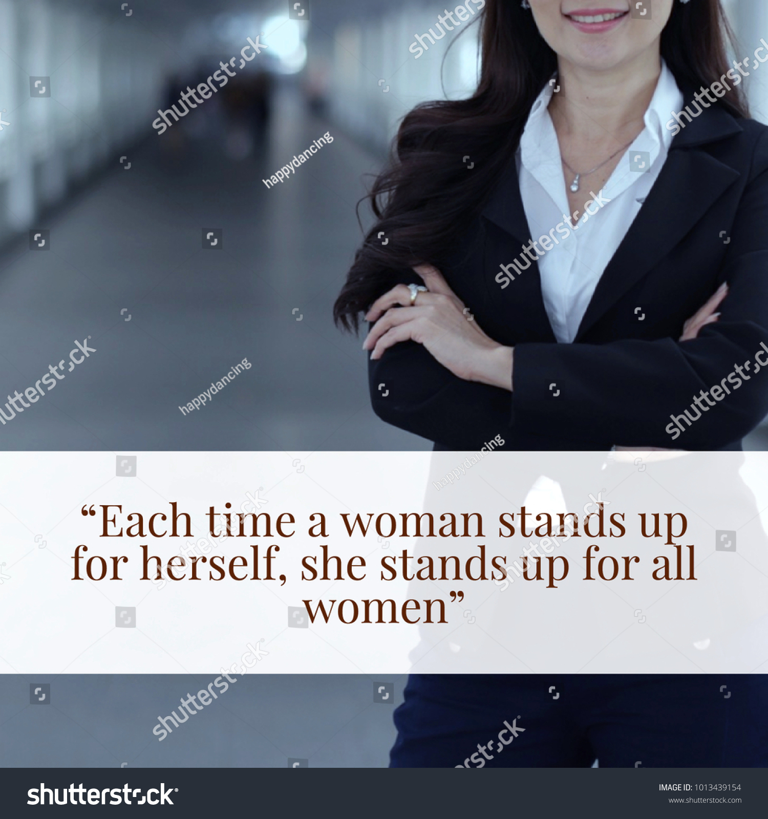 Inspirational Motivation Quote About Women Powerful Stock Photo