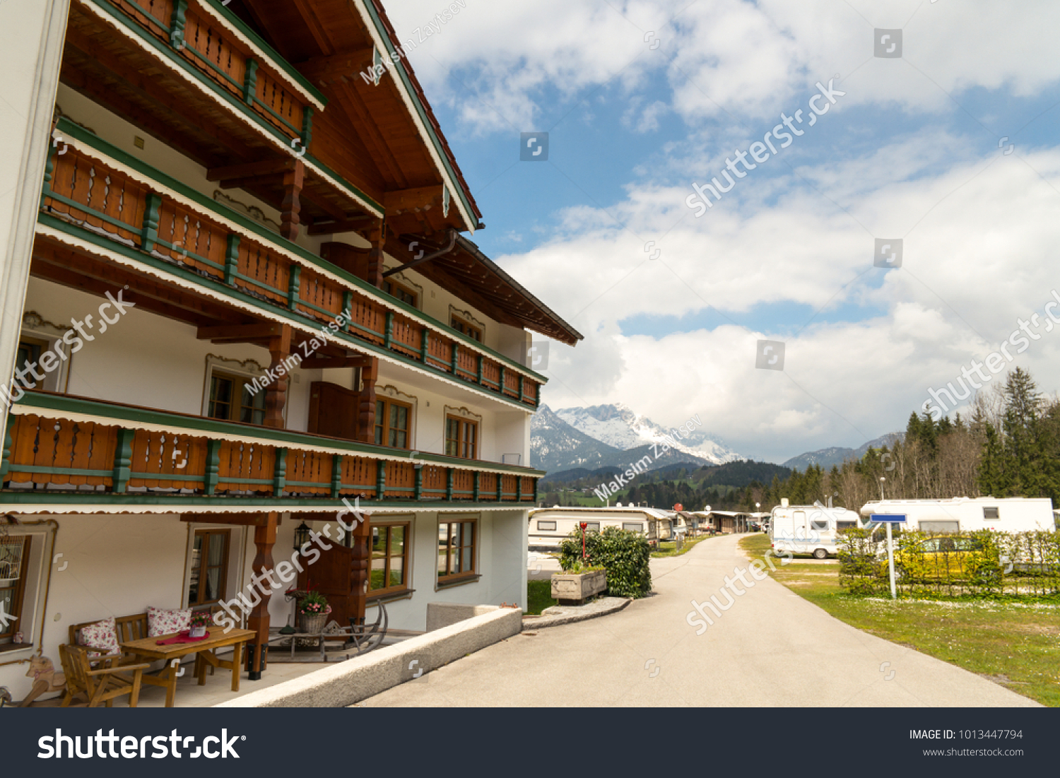 4cd91d0f80 The View of Hotel and Camping at Konigssee in Berchtesgaden Land District  in Bavaria