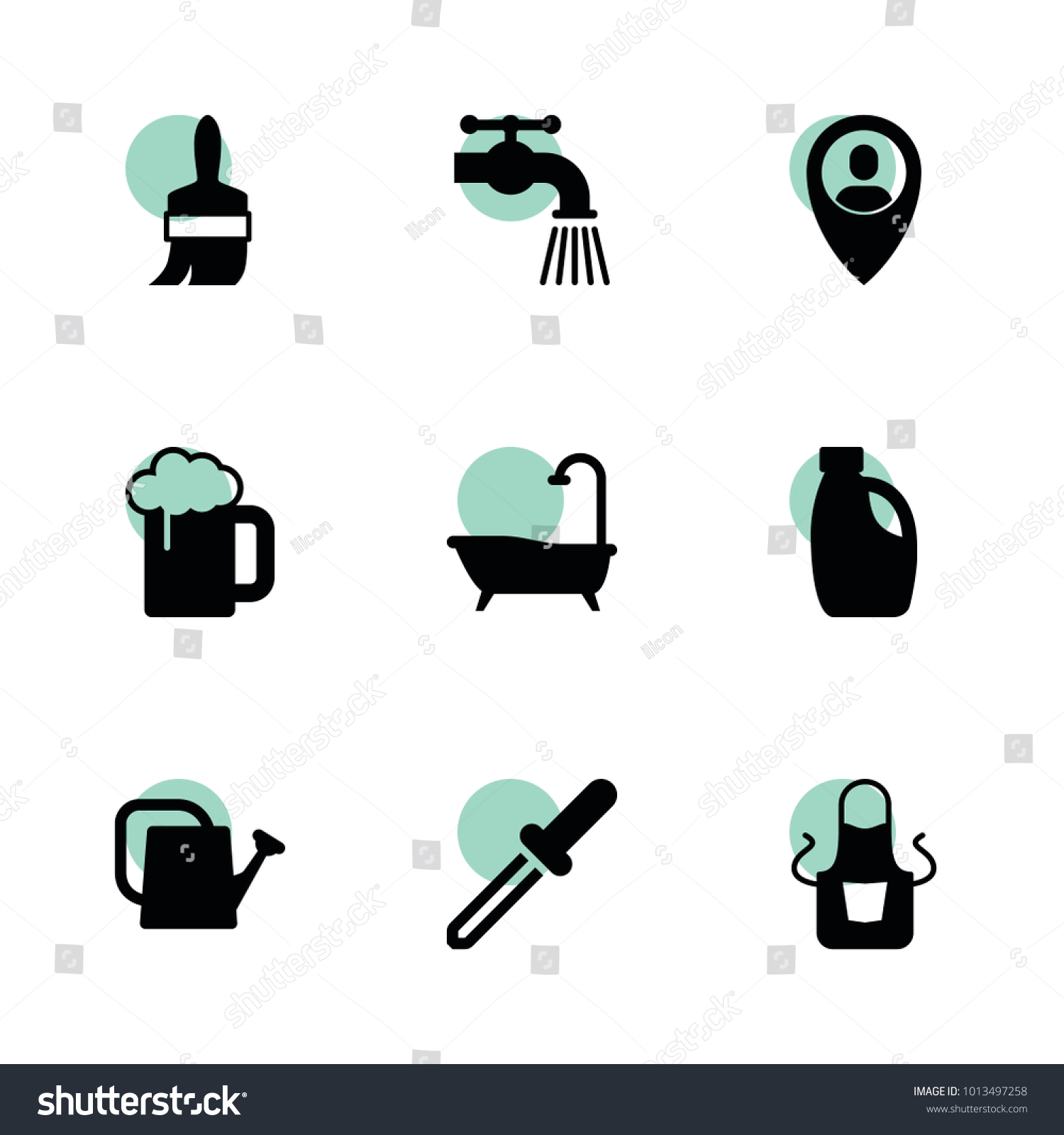 Drop icons vector collection filled drop stock vector 1013497258 drop icons vector collection filled drop icons set includes symbols such as watering buycottarizona